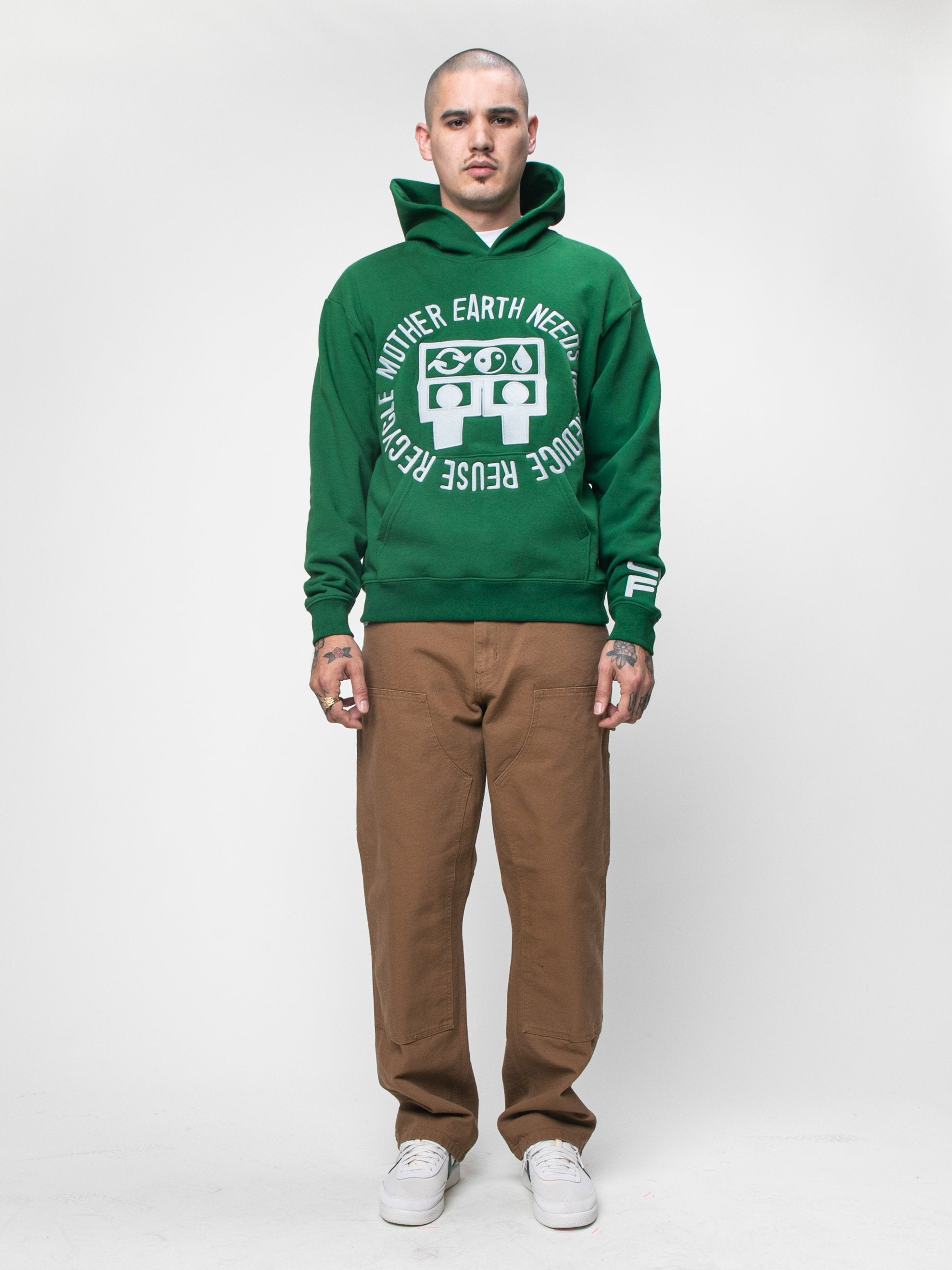Green CPFM x Eco Mother Earth Hooded Sweatshirt 3