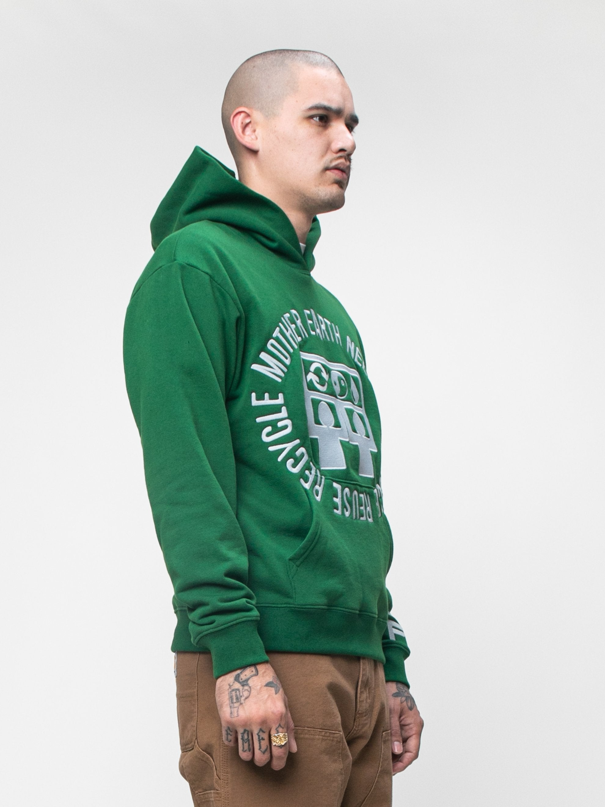 Green CPFM x Eco Mother Earth Hooded Sweatshirt 4