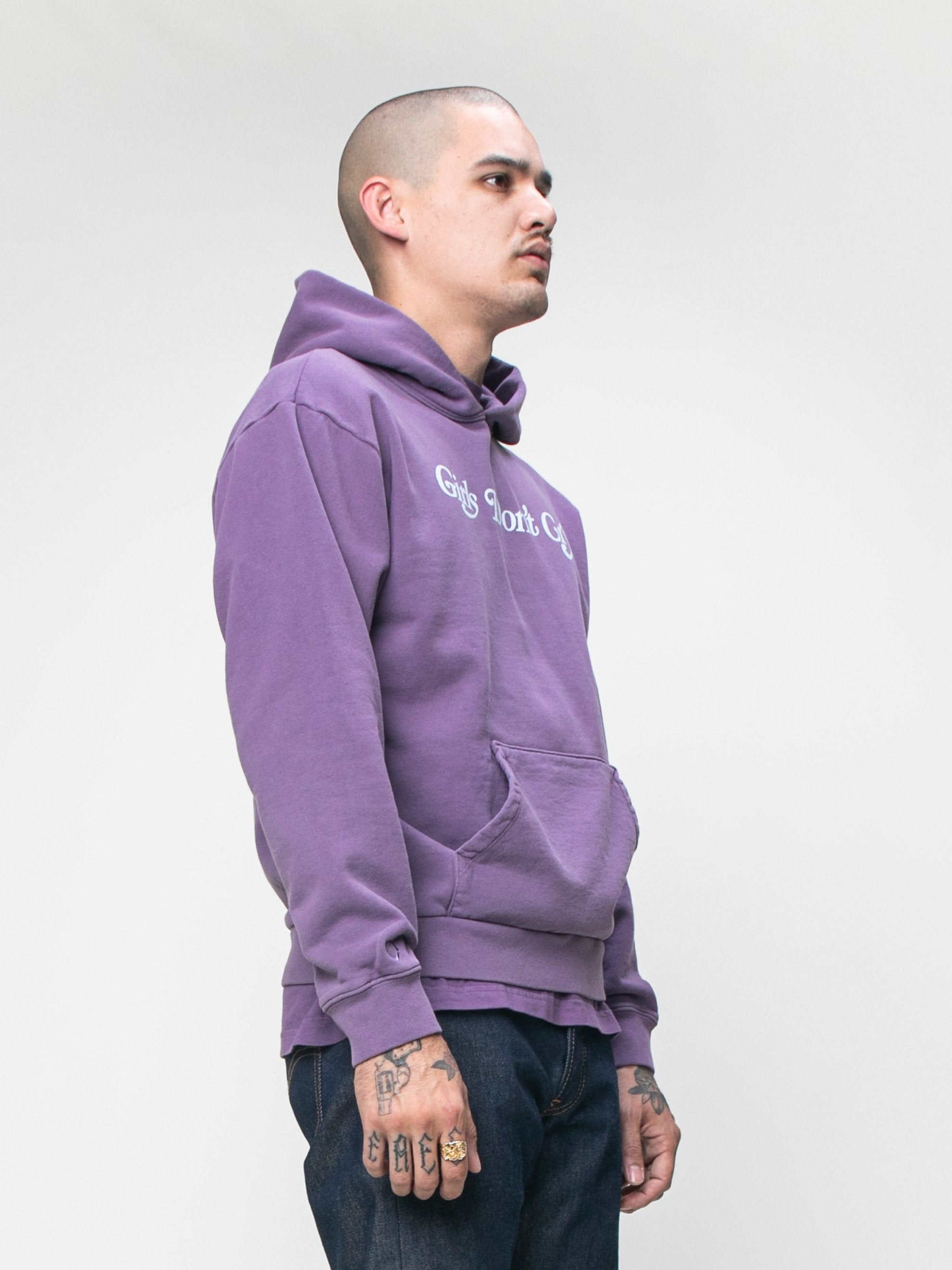 Purple GDC x Eco Logo Hooded Sweatshirt 4