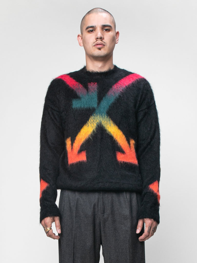 Black Fuzzy Arrows Crewneck 215944733720653