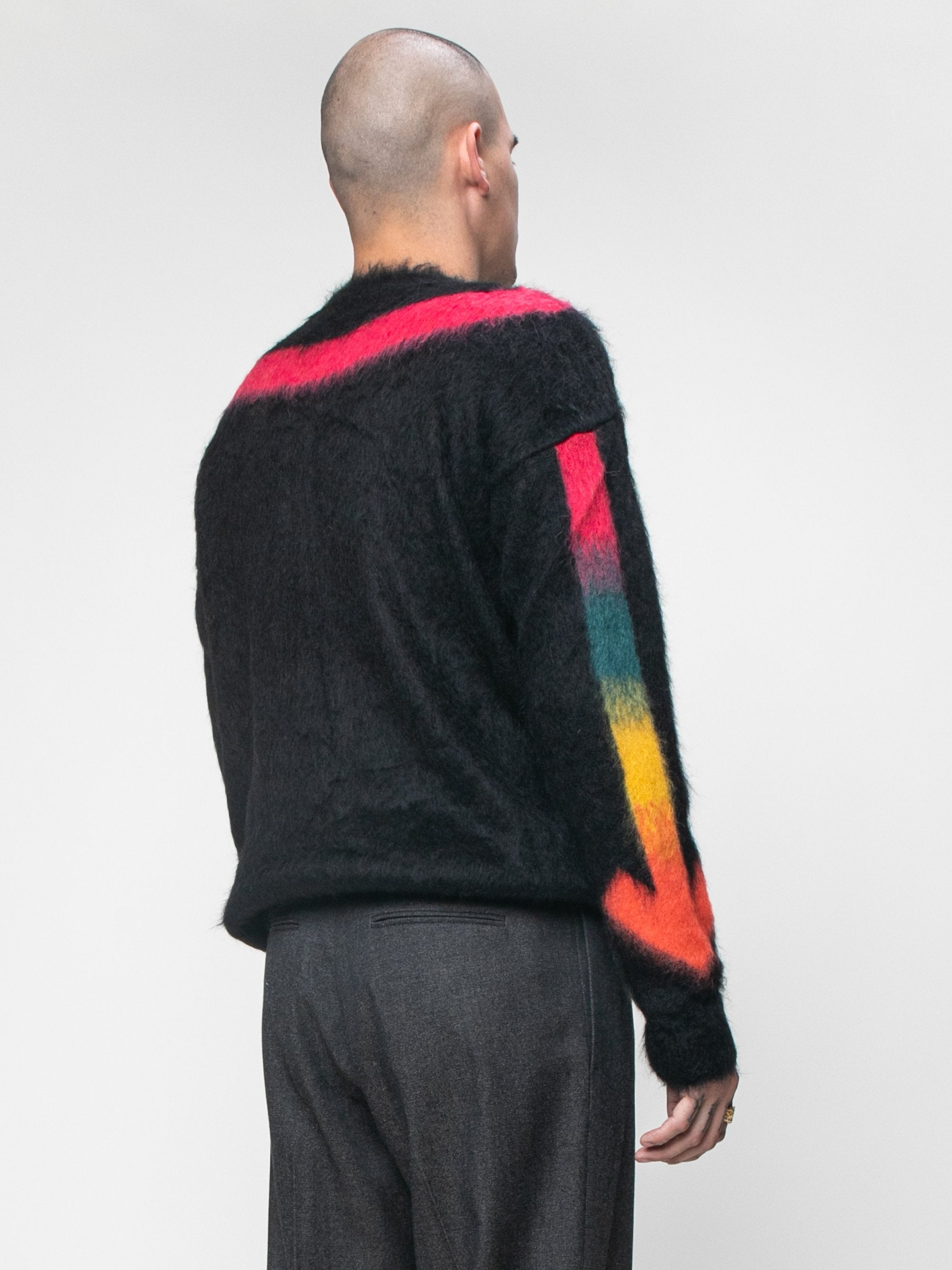 Black Fuzzy Arrows Crewneck 5