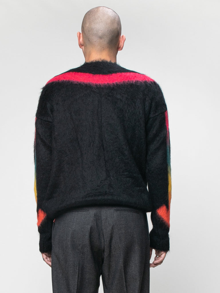 Black Fuzzy Arrows Crewneck 615944736342093