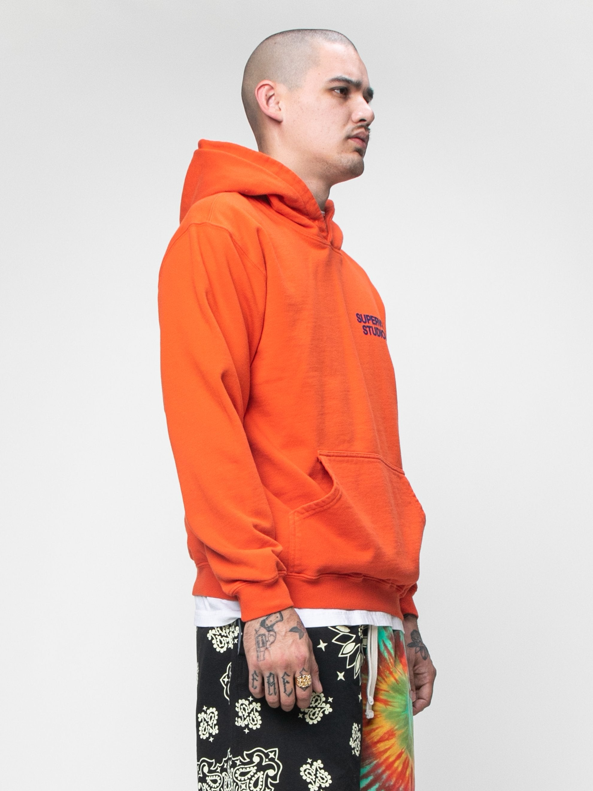 Burnt Orange STUDIO Field Hoodie 4