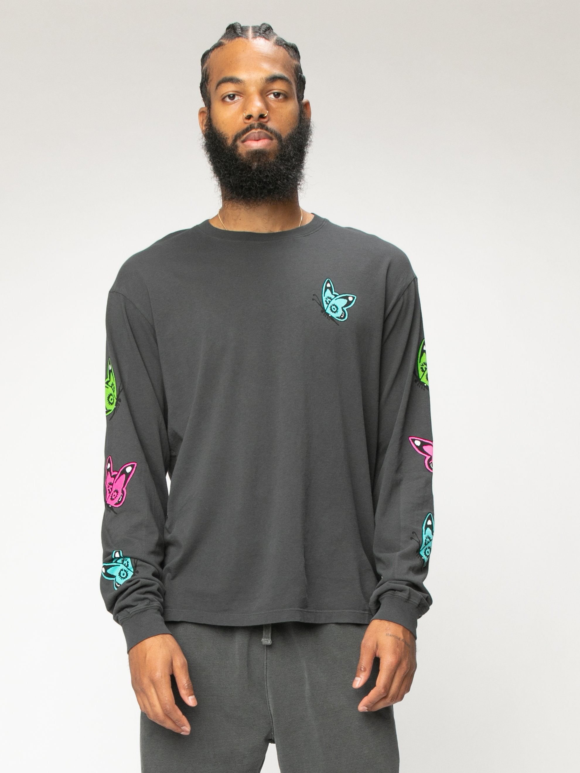 Charcoal Love Like This L/S T-Shirt 2