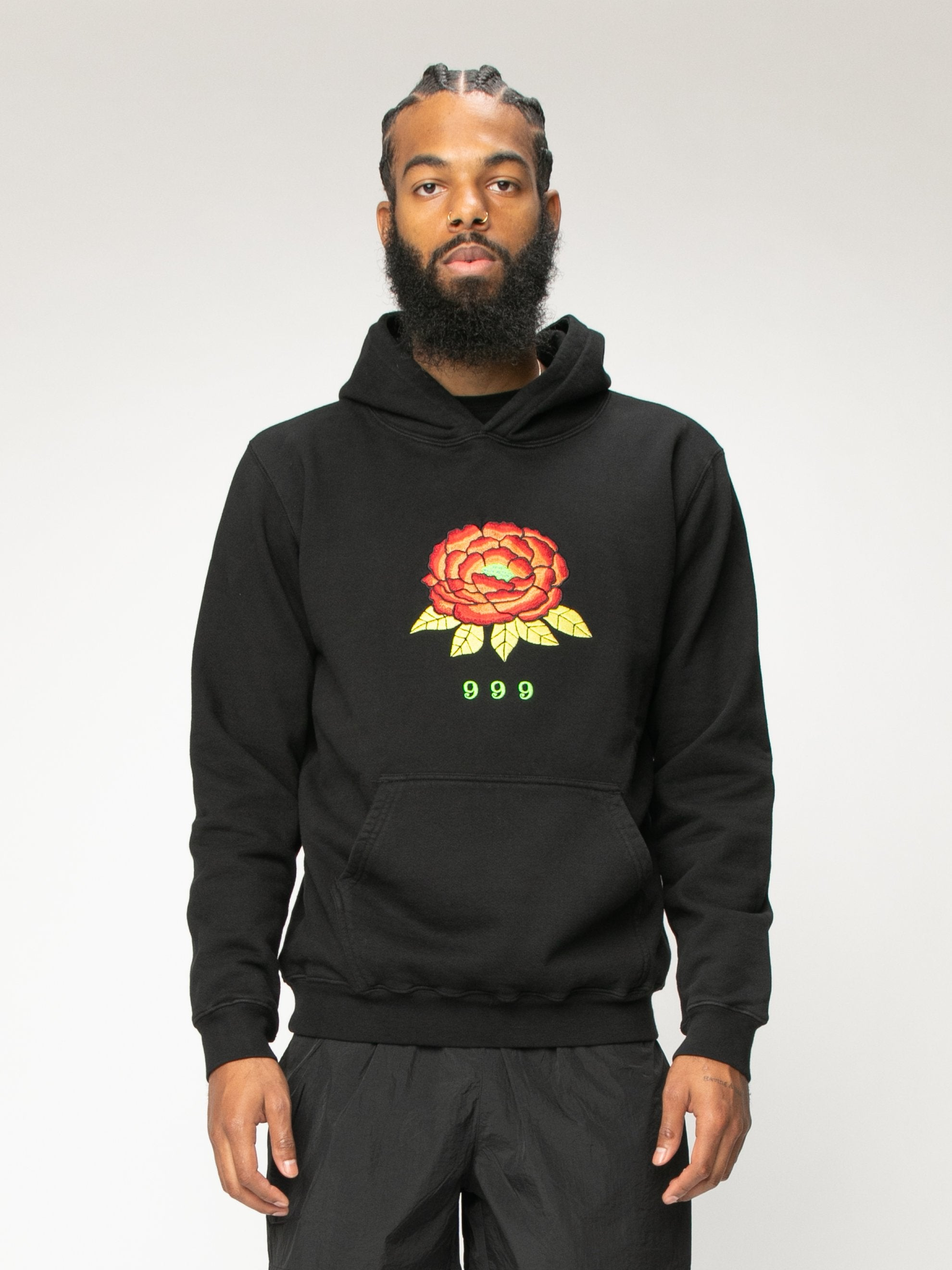 Black 999 Embrodered Hoody 2