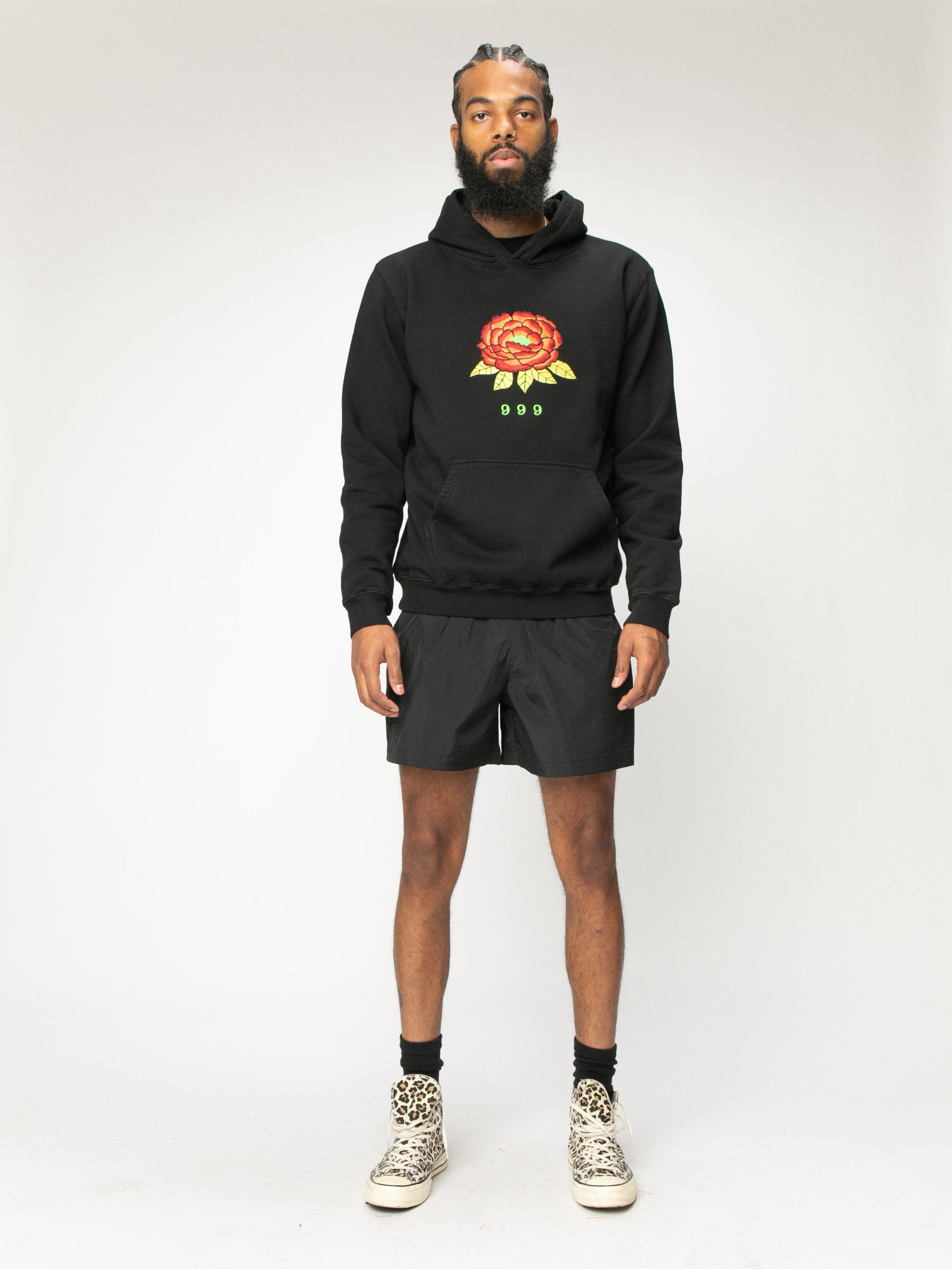 Black 999 Embrodered Hoody 3