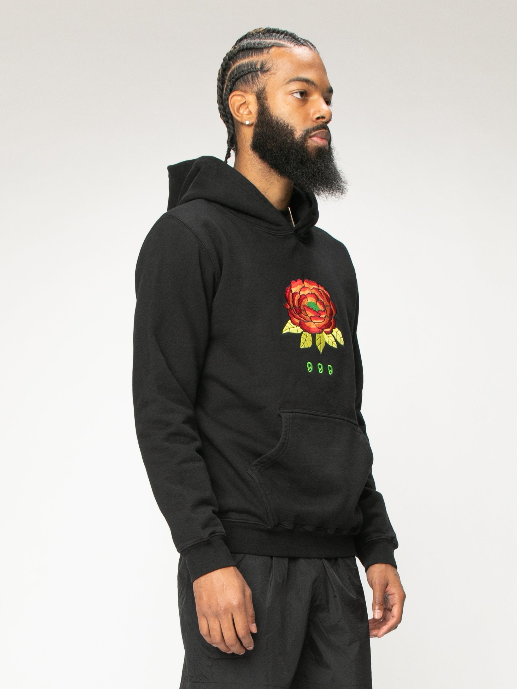 Black 999 Embrodered Hoody 4
