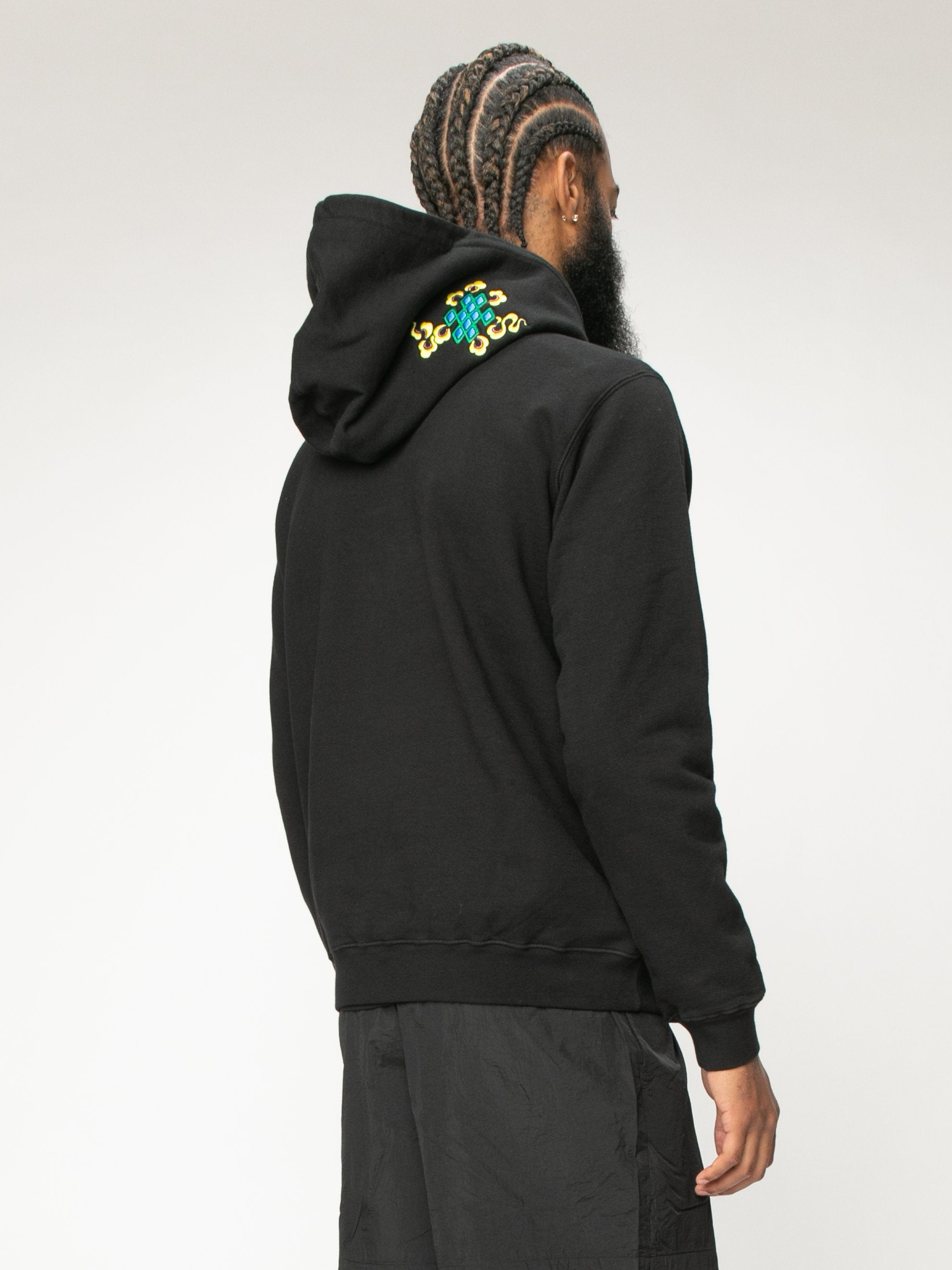 Black 999 Embrodered Hoody 5