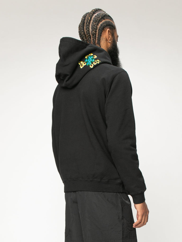 Black 999 Embrodered Hoody 516003396272205