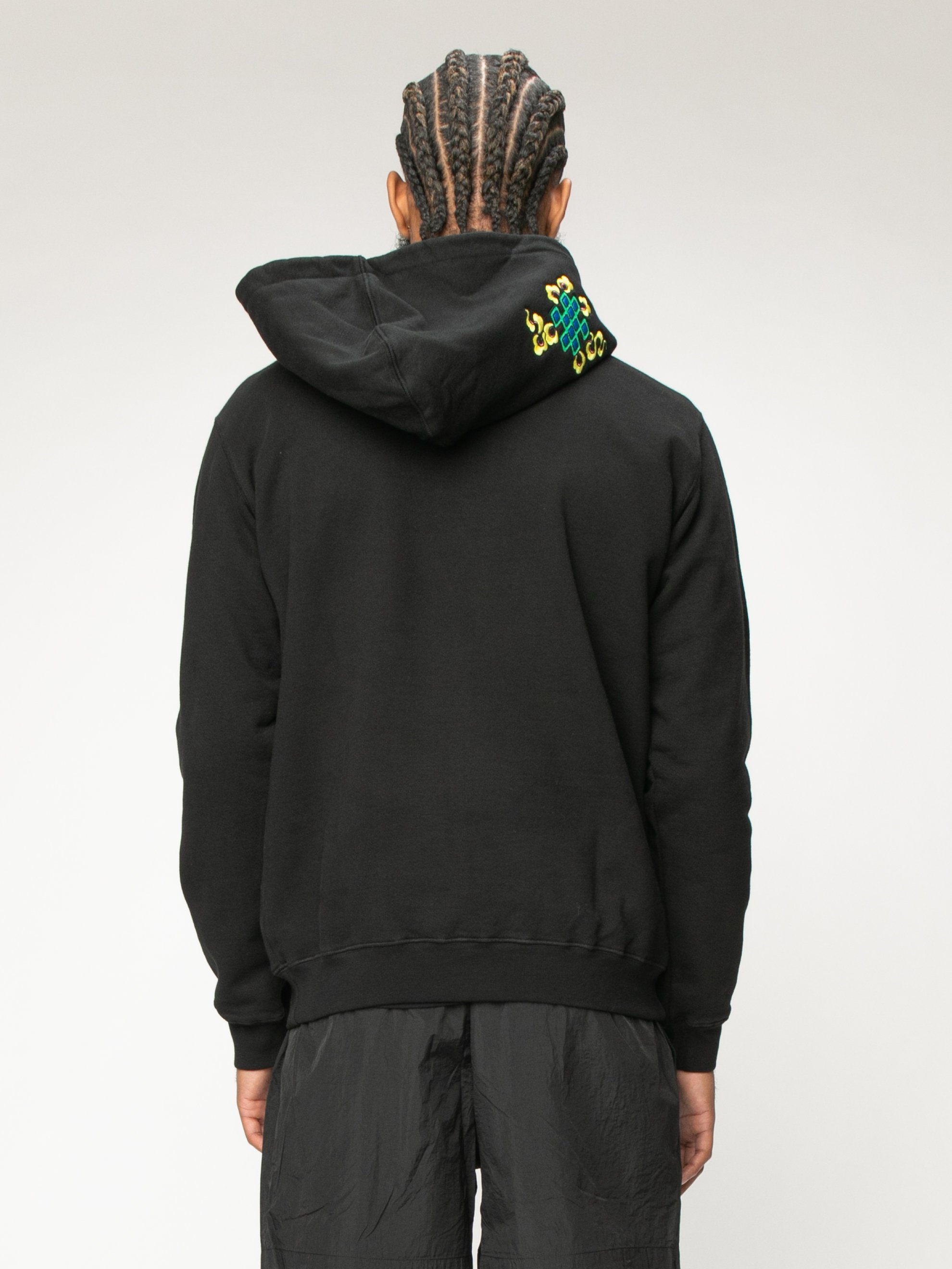 Black 999 Embrodered Hoody 6
