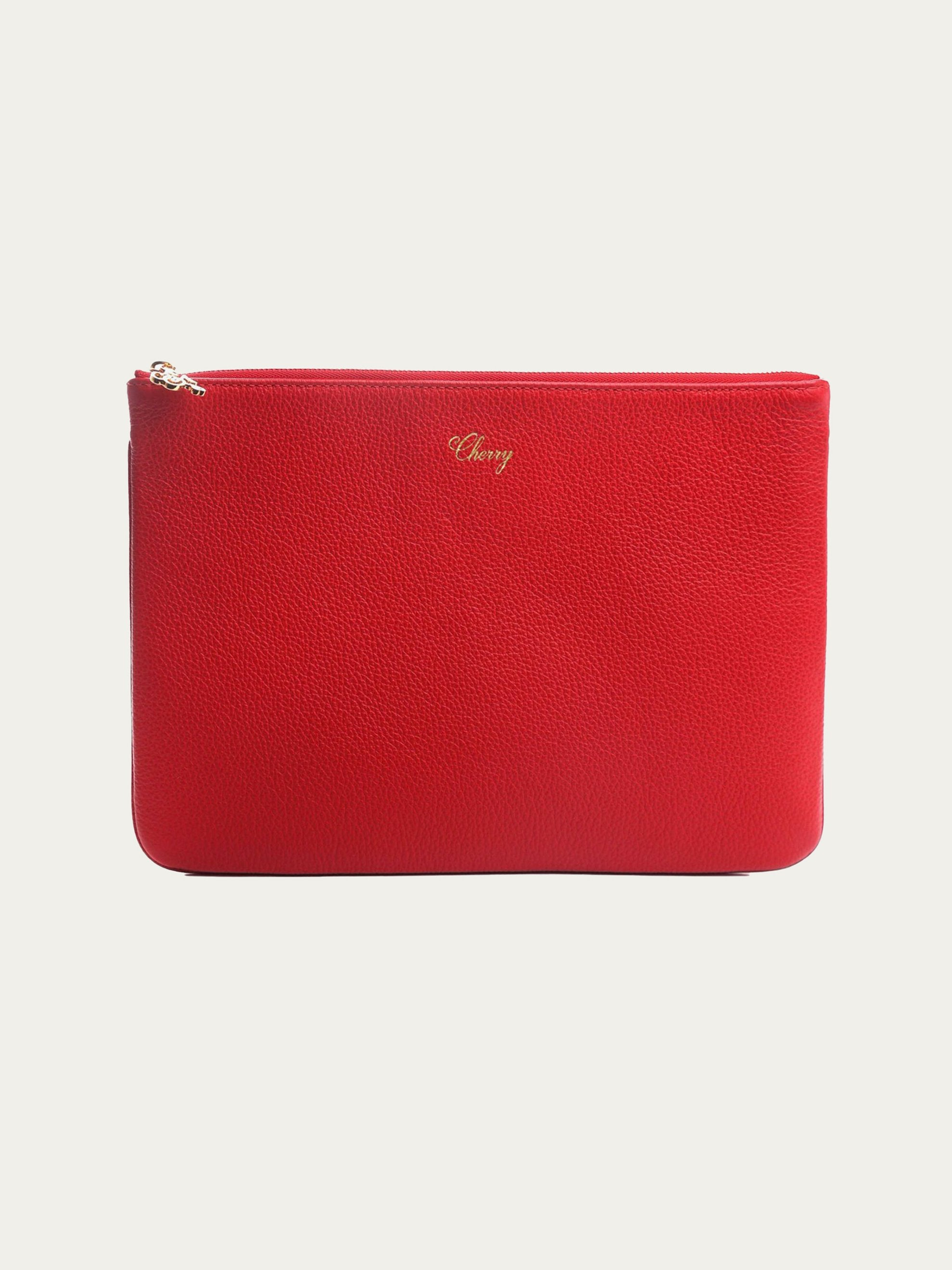 Red Leather Pouch 1