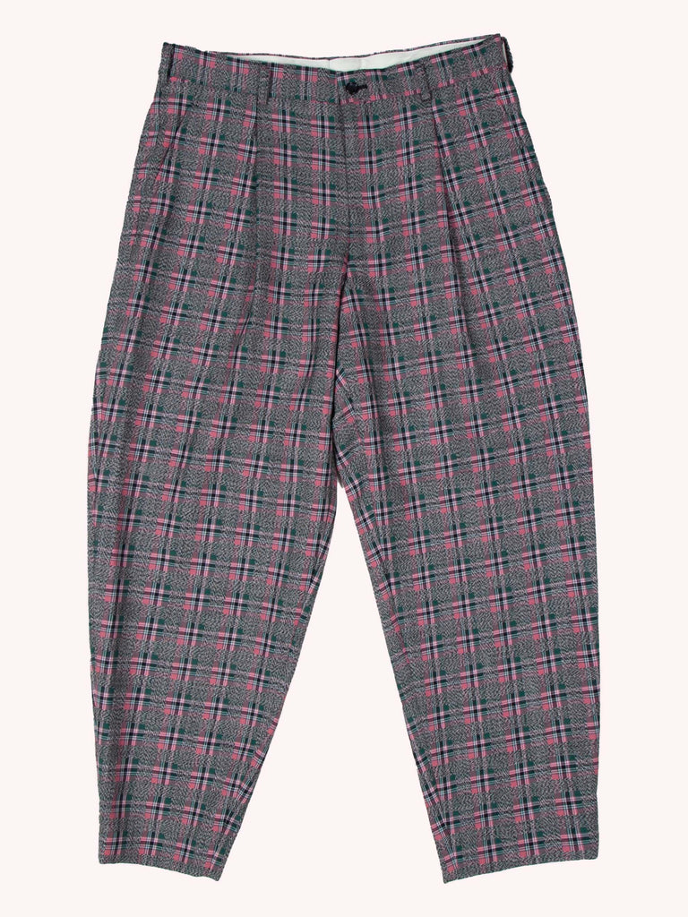 Wool Plaid Trouser