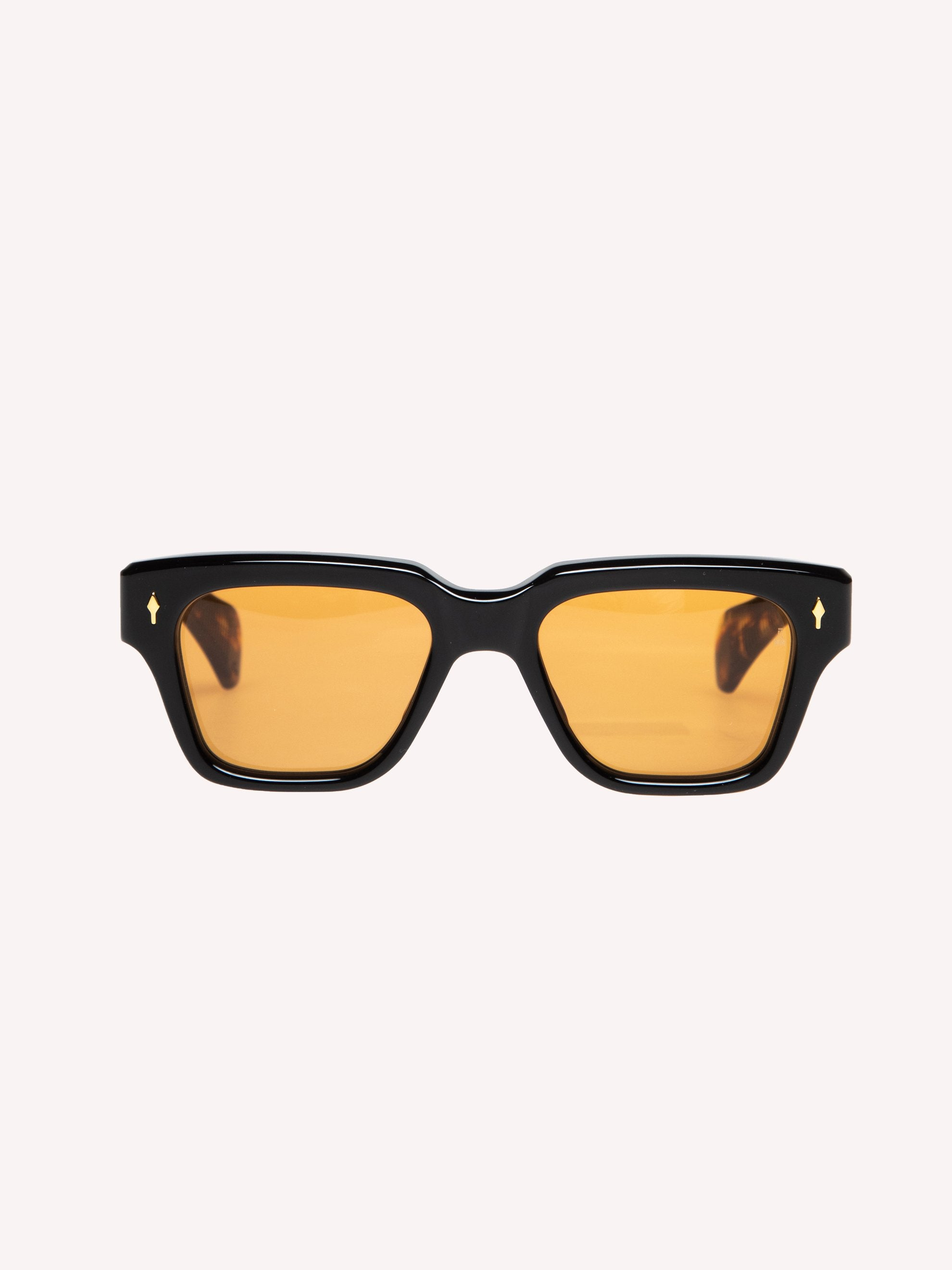 Orange CR39/ 18k Dark Gold Fellini Noir 1