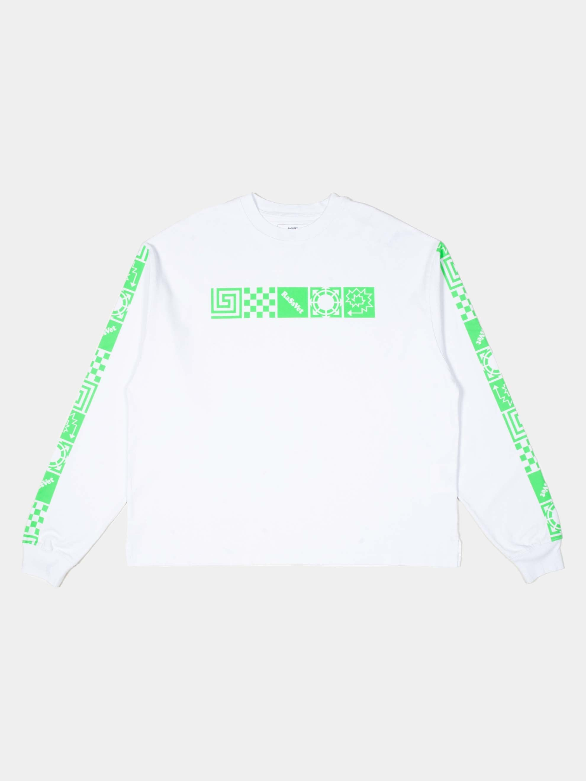White Logo Long Sleeve T-Shirt 1