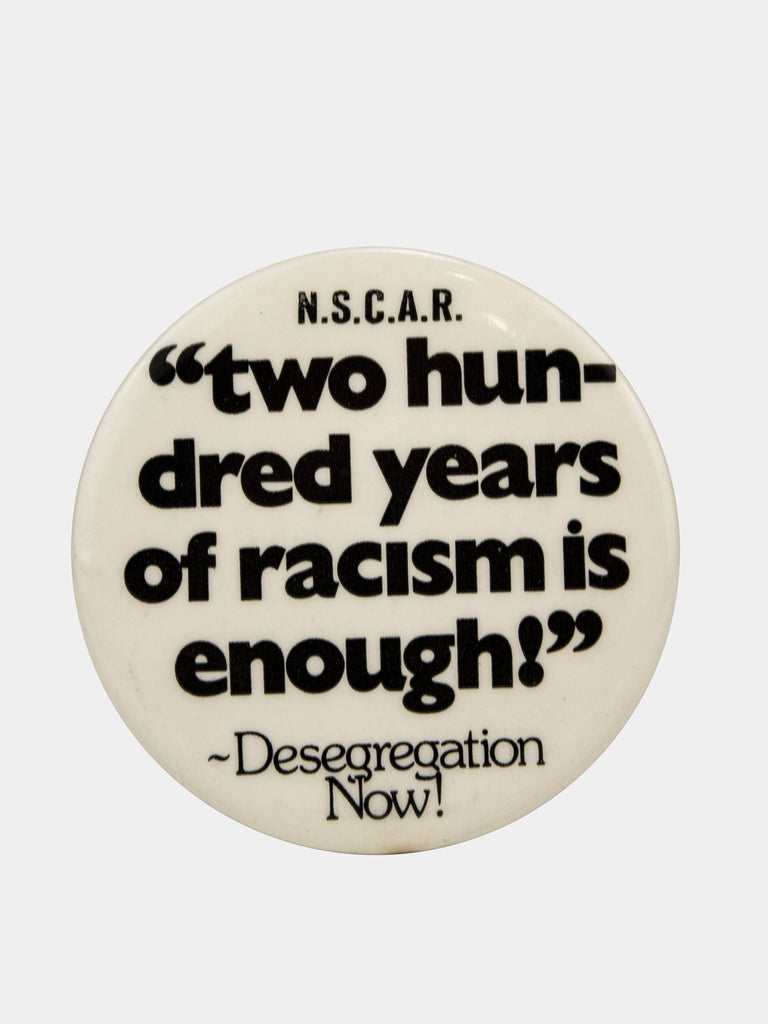 "Vintage 1970's Activist Protest Pin ""200 Years"""