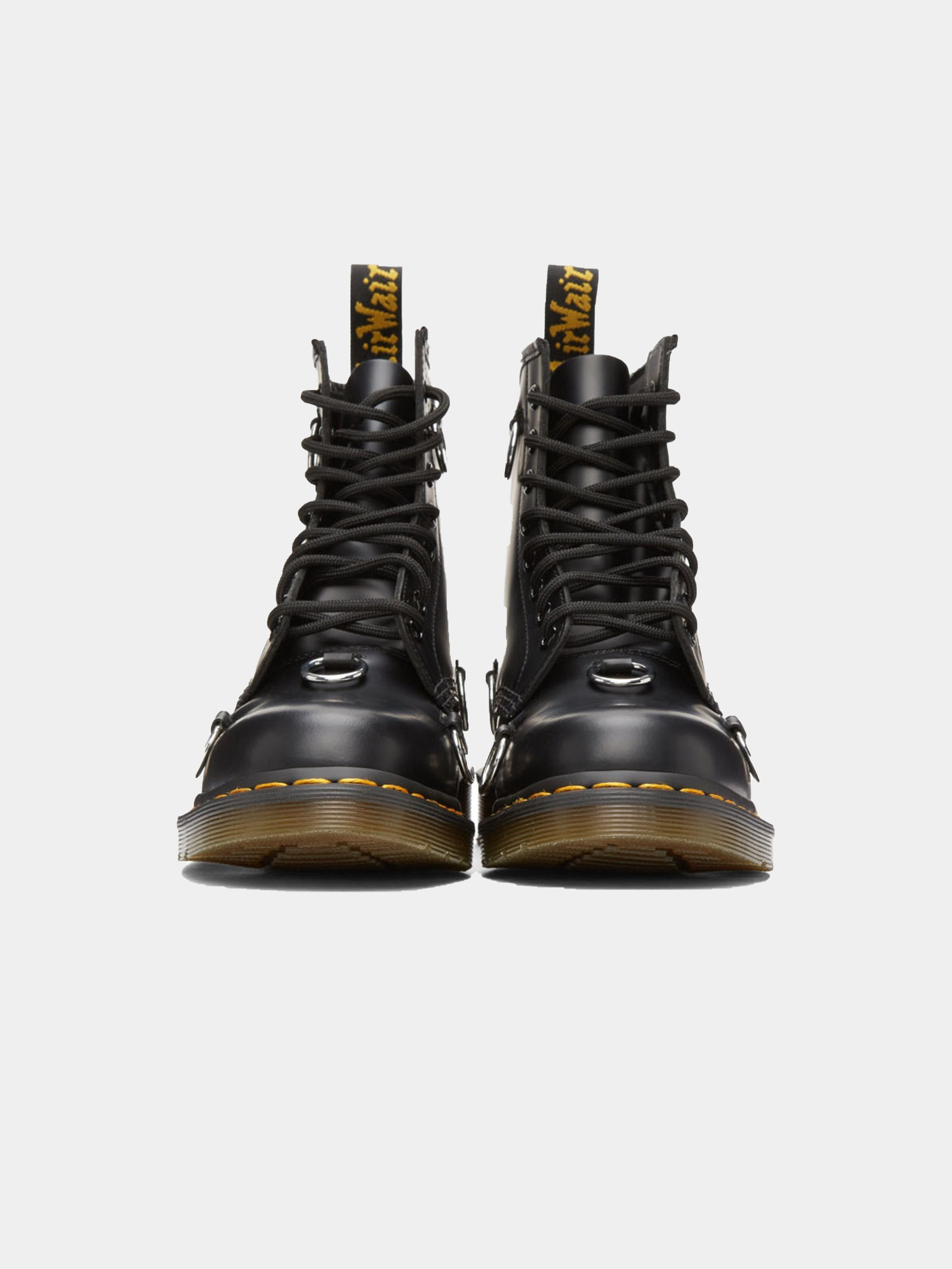 Black Dr. Martens High Boot With Rings 3