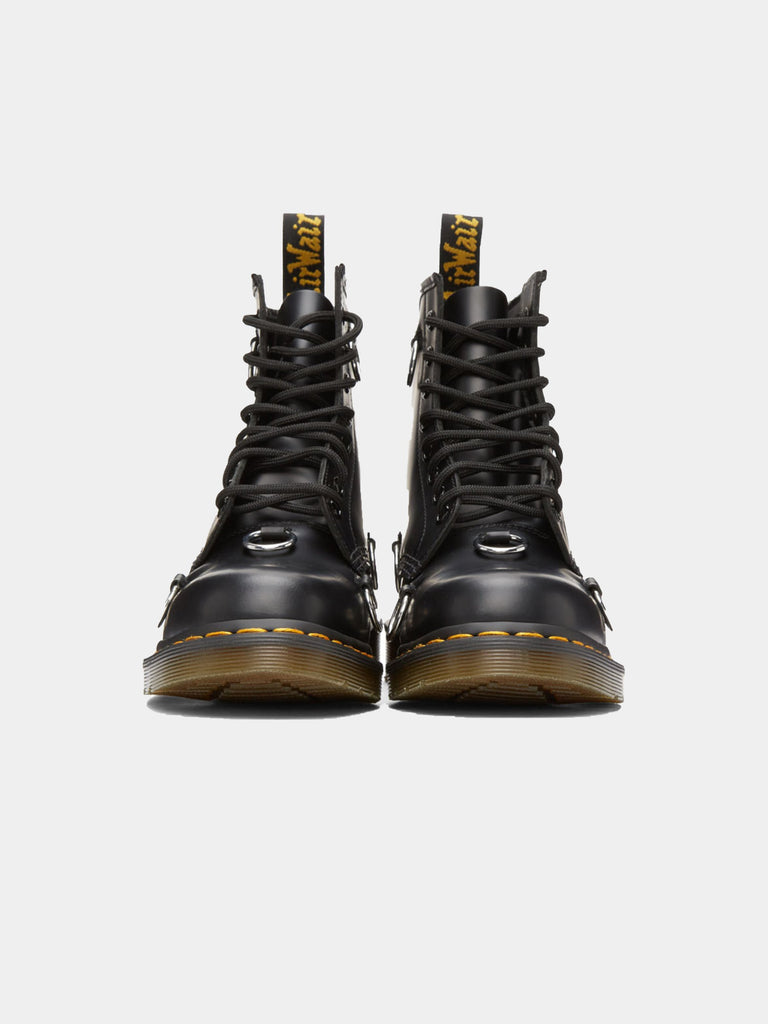 Black Dr. Martens High Boot With Rings 314325838512205