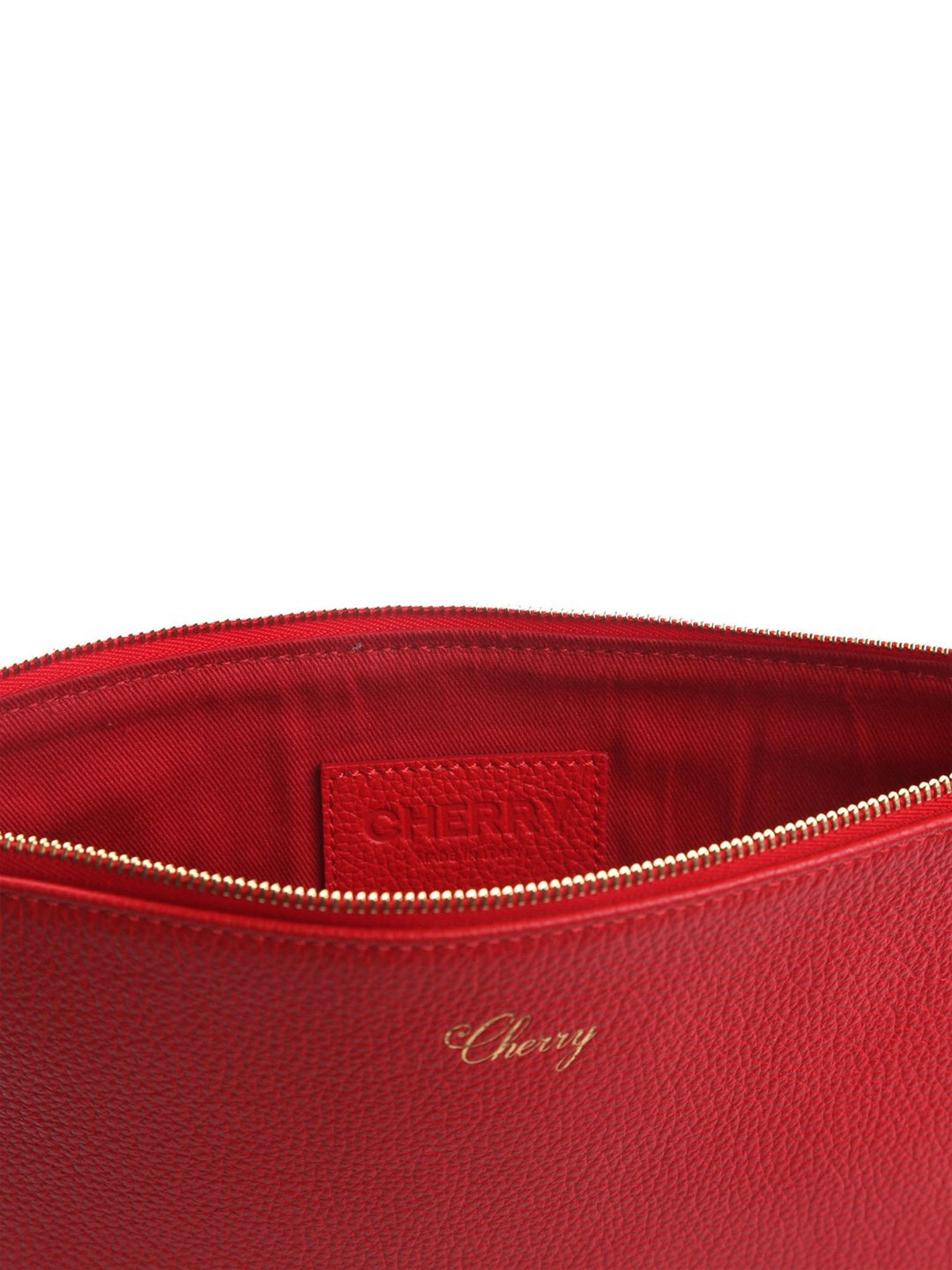 Red Leather Pouch 2