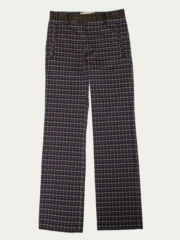 Double Check Straight Leg Pant