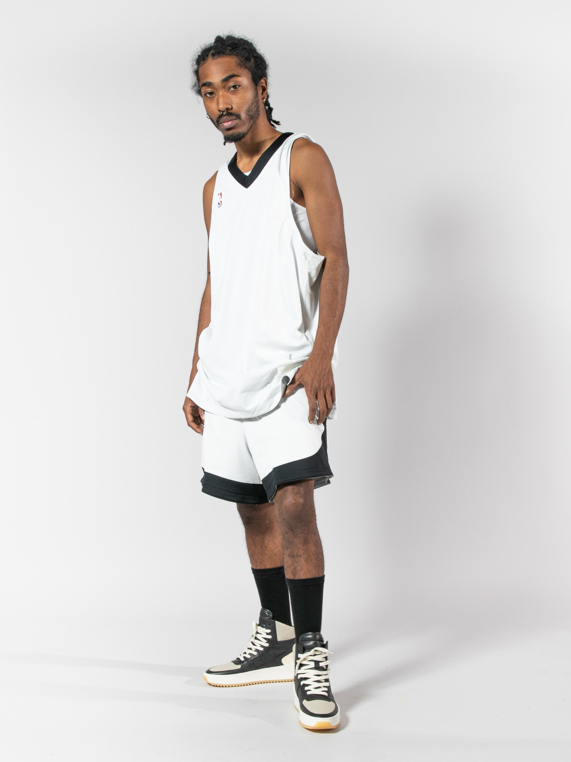 Summit White/Heather Grey/Black Nike x Fear Of God Reversible Short 4