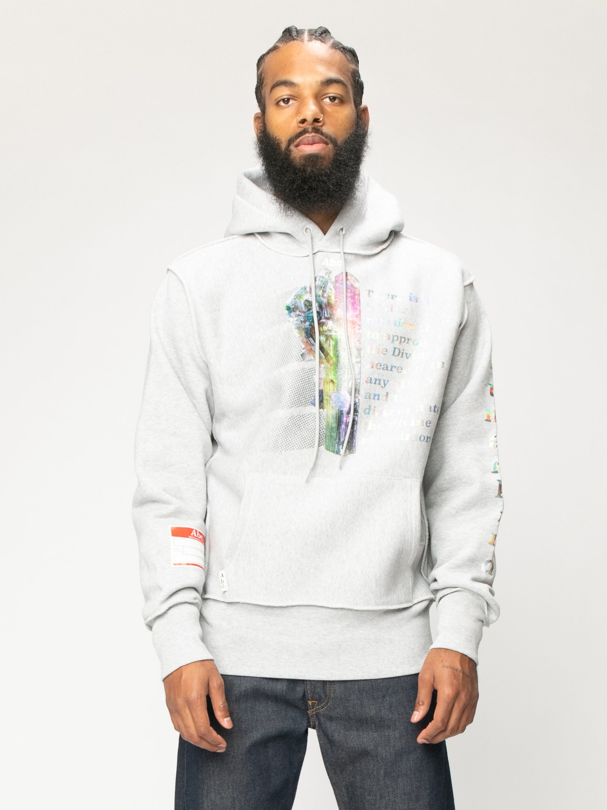 Grey Planet Saving  Hooded Sweatshirt 3