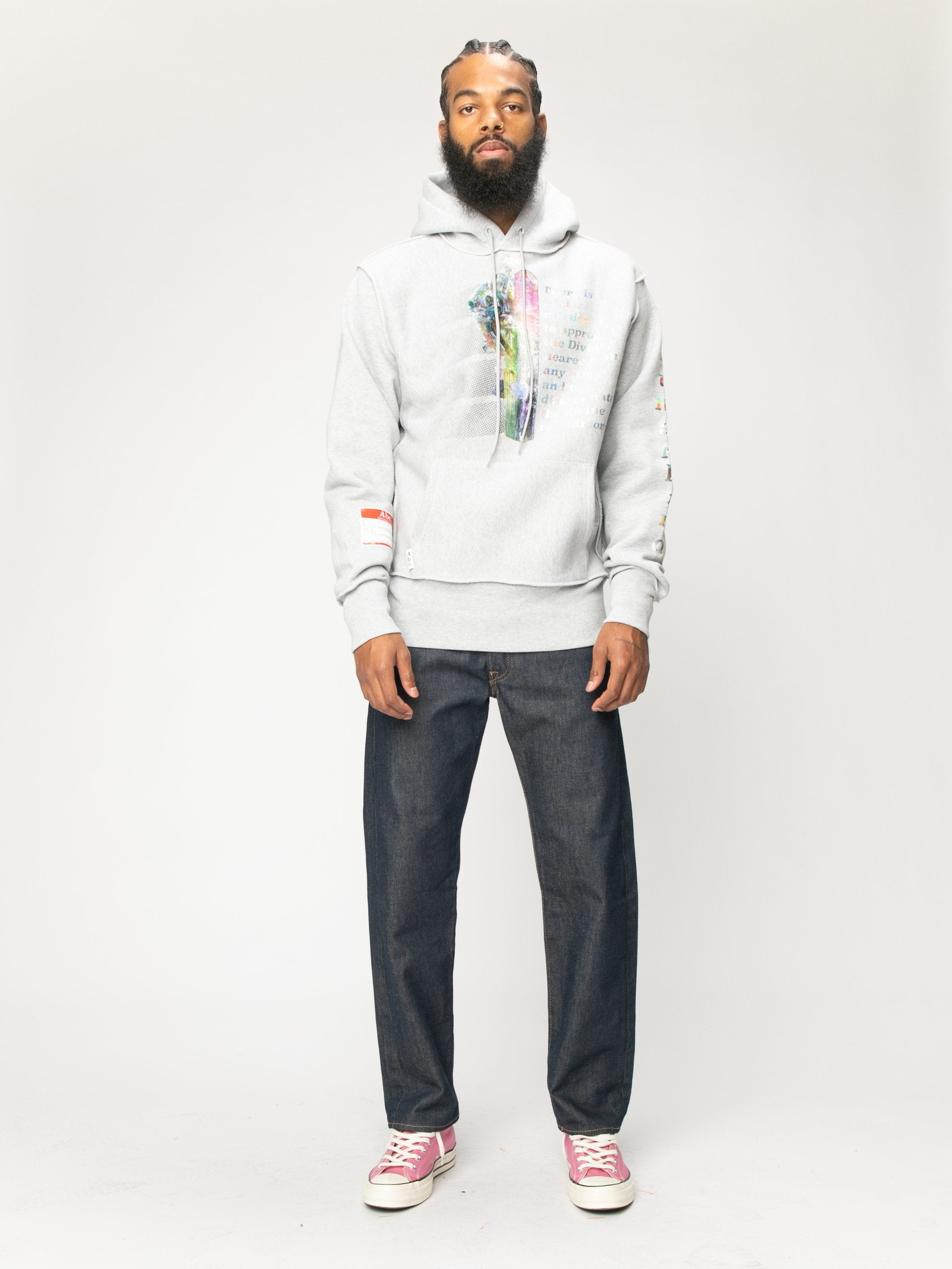 Grey Planet Saving  Hooded Sweatshirt 4