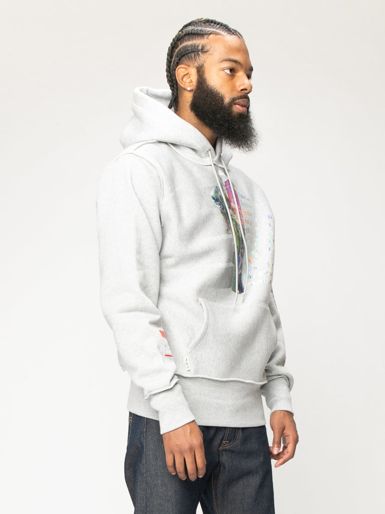 Grey Planet Saving  Hooded Sweatshirt 516063337988173