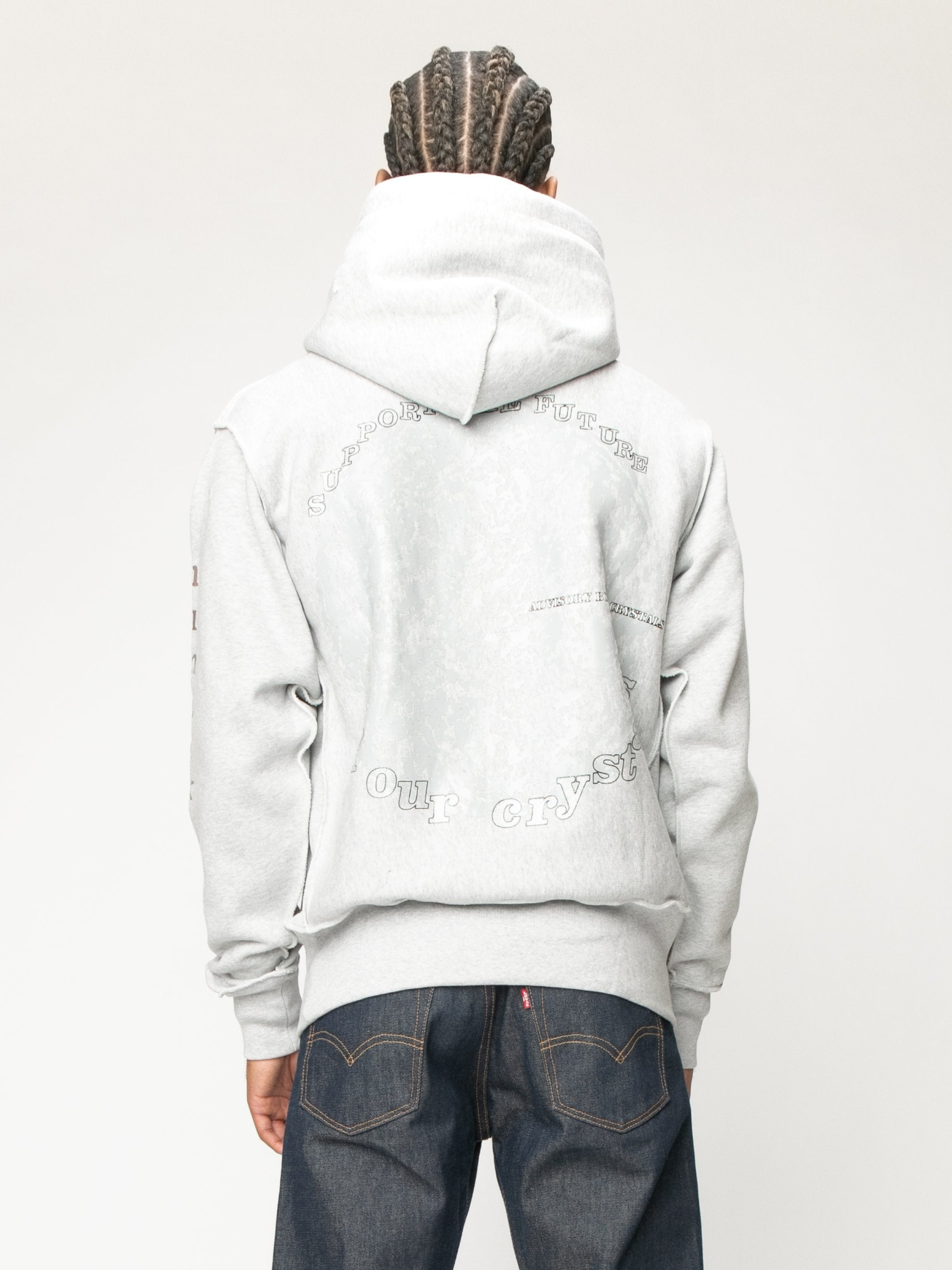 Grey Planet Saving  Hooded Sweatshirt 7