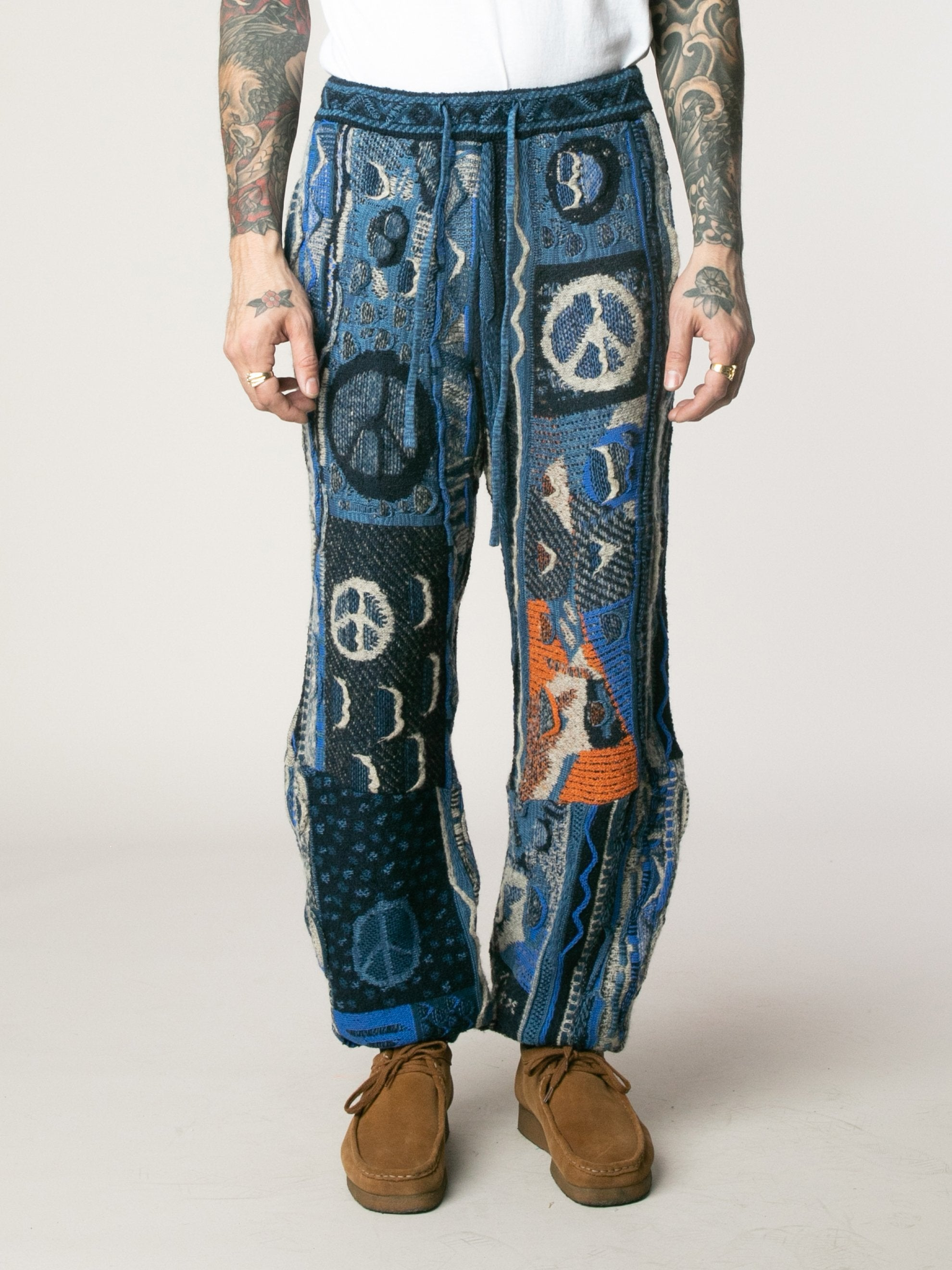 7G Boro Gaudy Knit Pants