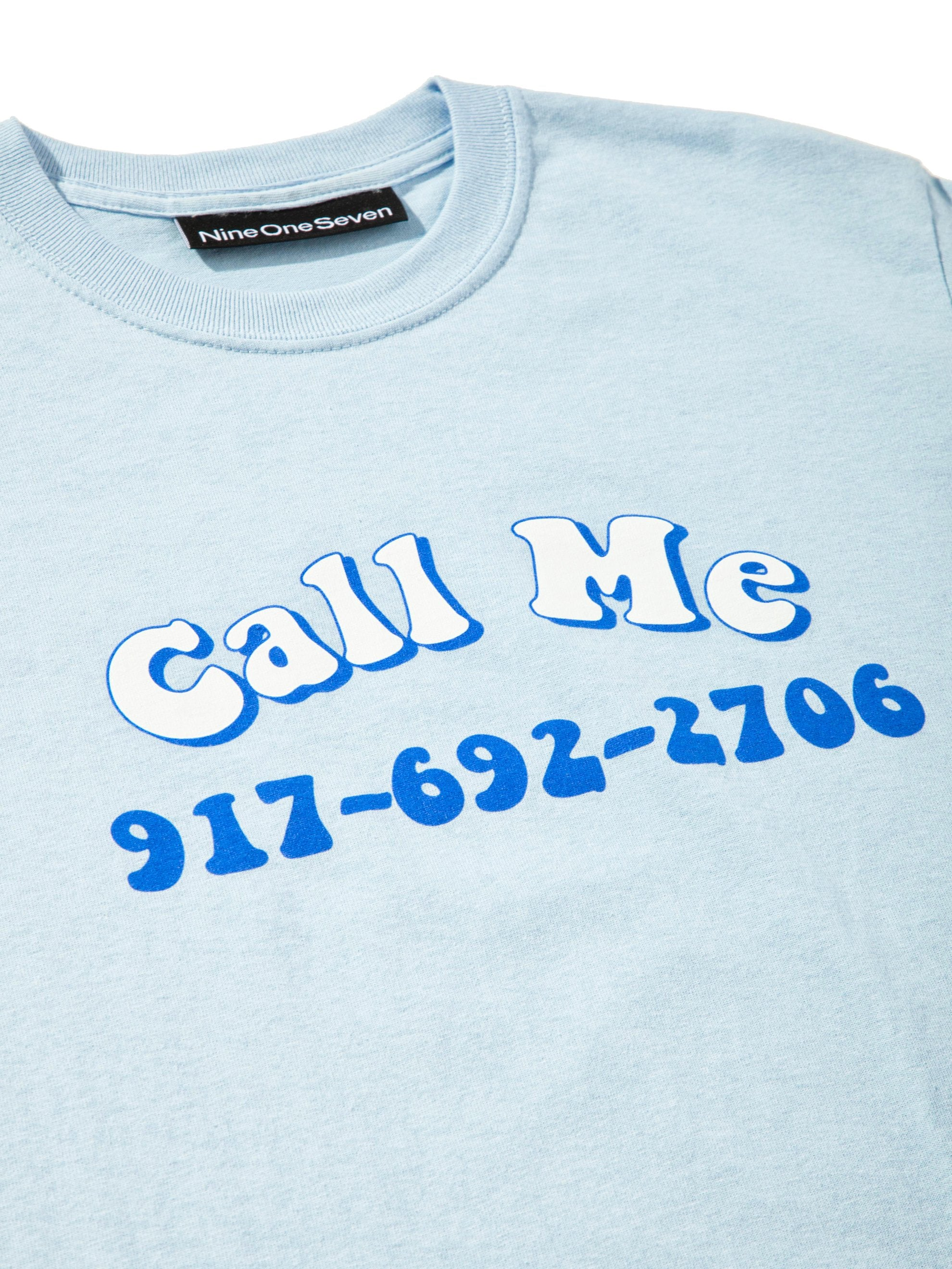Blue Groovy Call Me T-Shirt 5