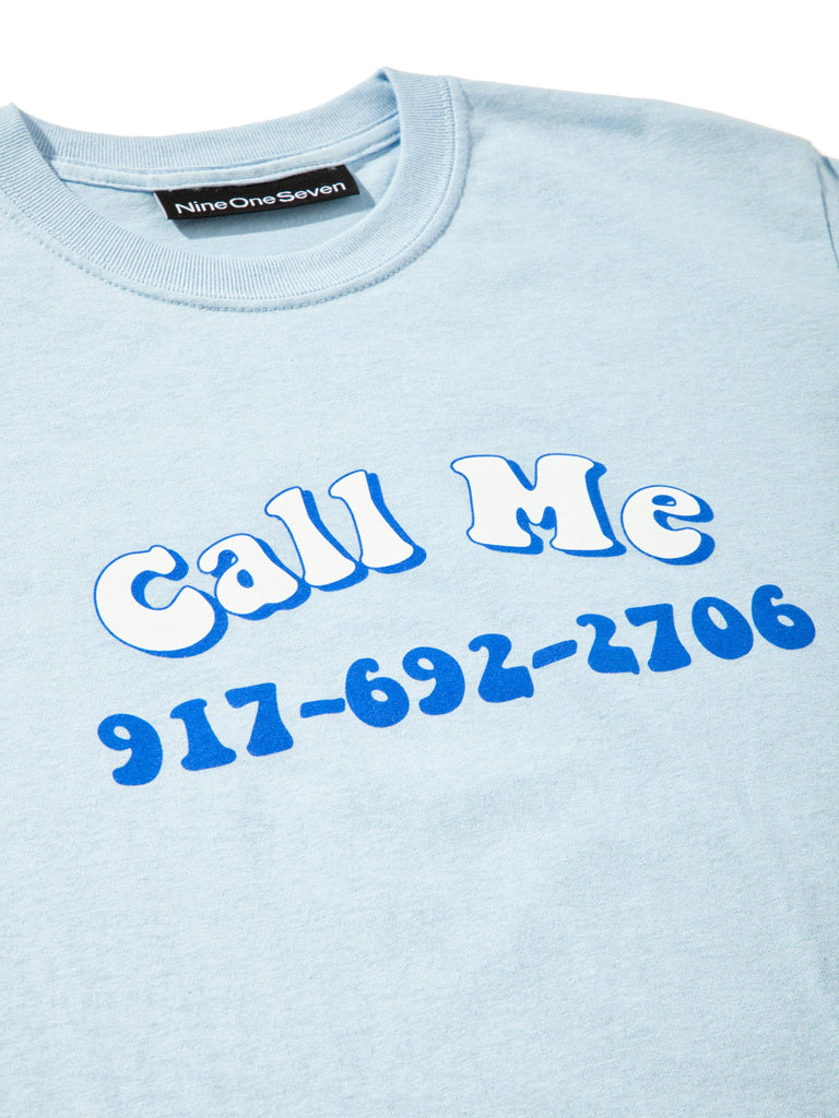Blue Groovy Call Me T-Shirt 523723737097
