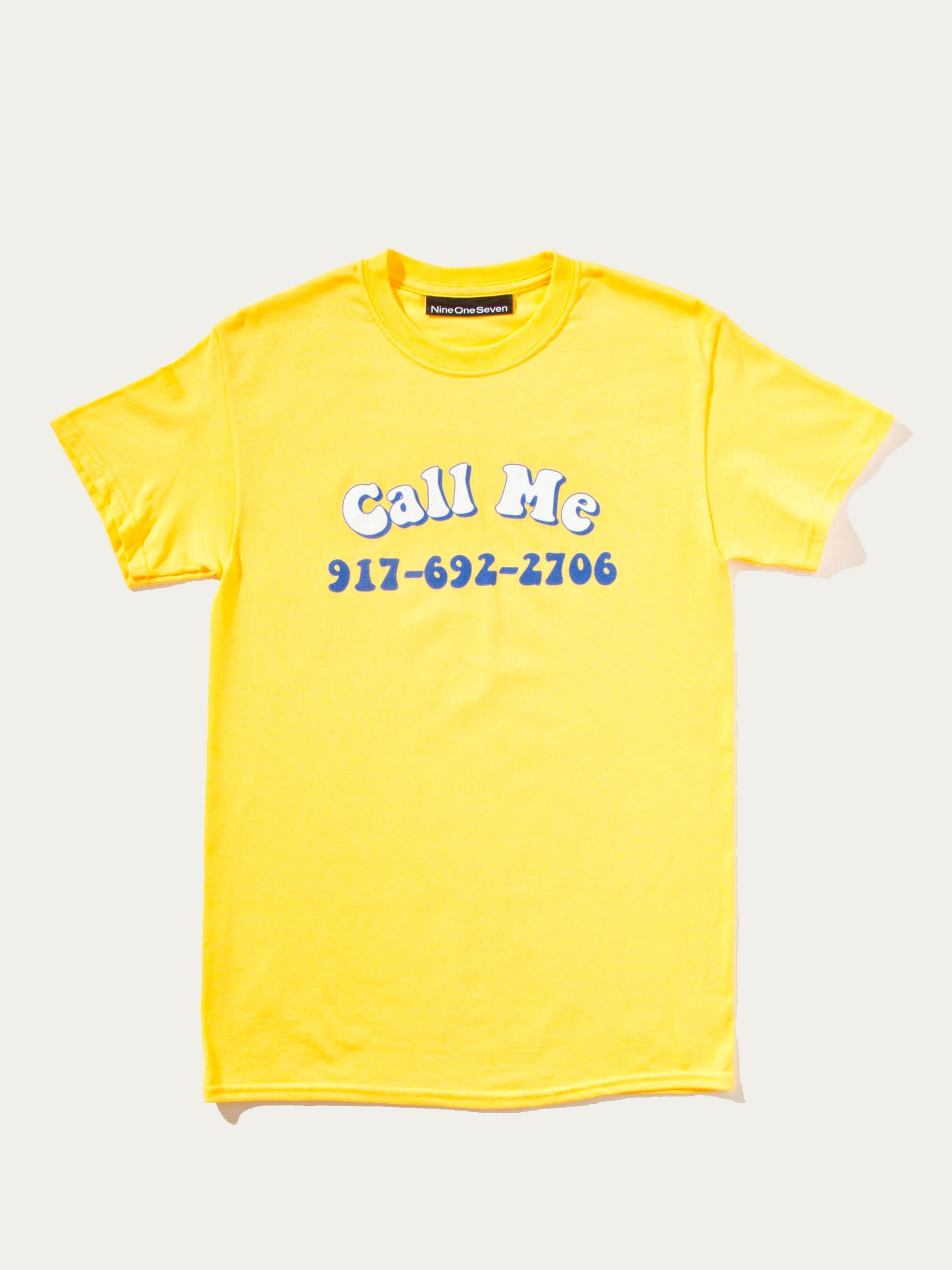 Blue Groovy Call Me T-Shirt 7