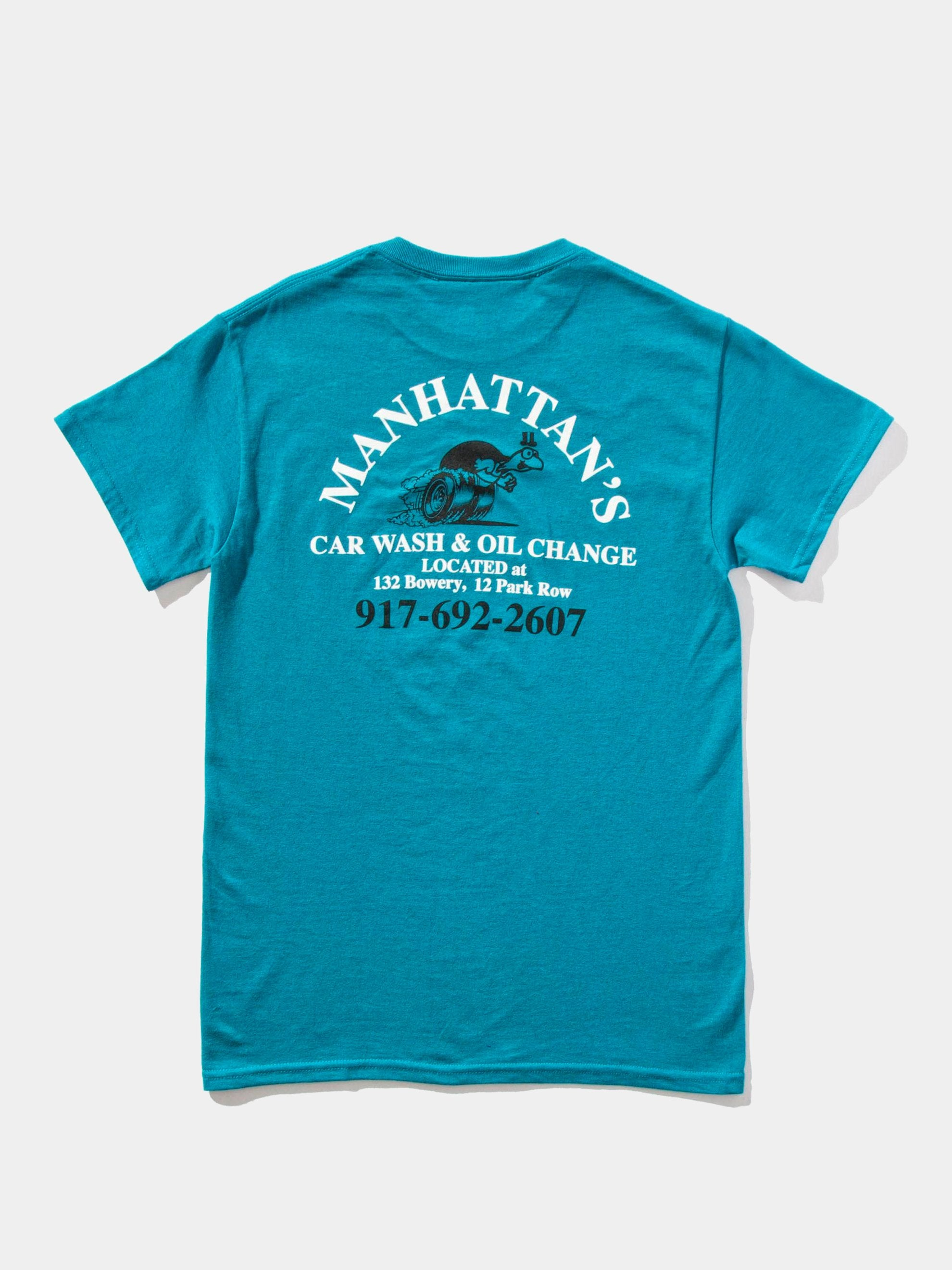 Teal Manhattan Car Wash T-Shirt 1