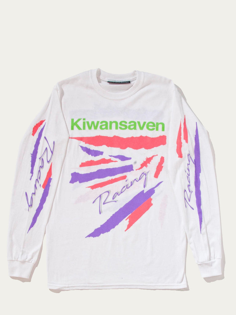 White Kiwanseven Long Sleeve T-Shirt 613572104061005