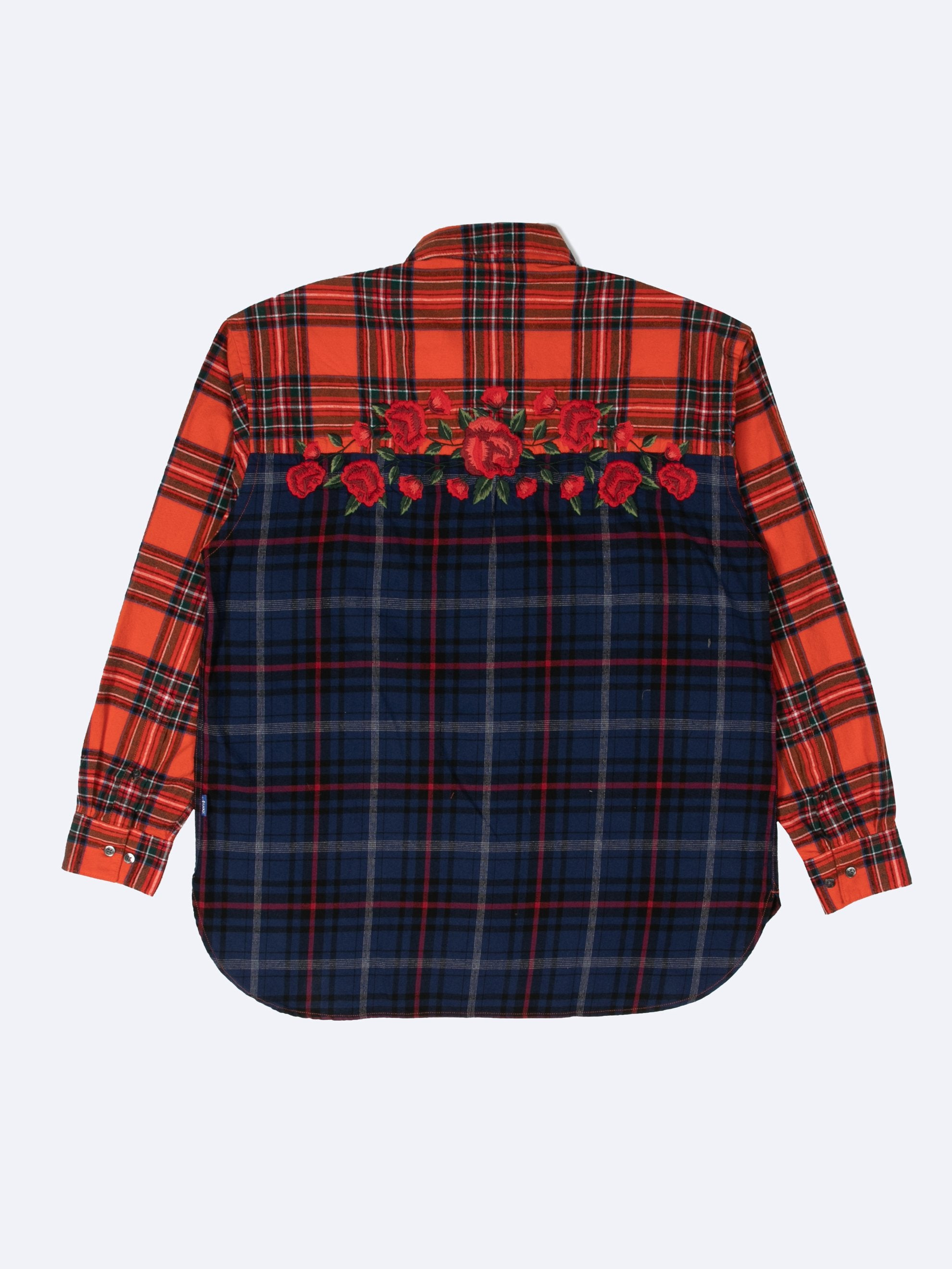 Embroidered Rose Flannel