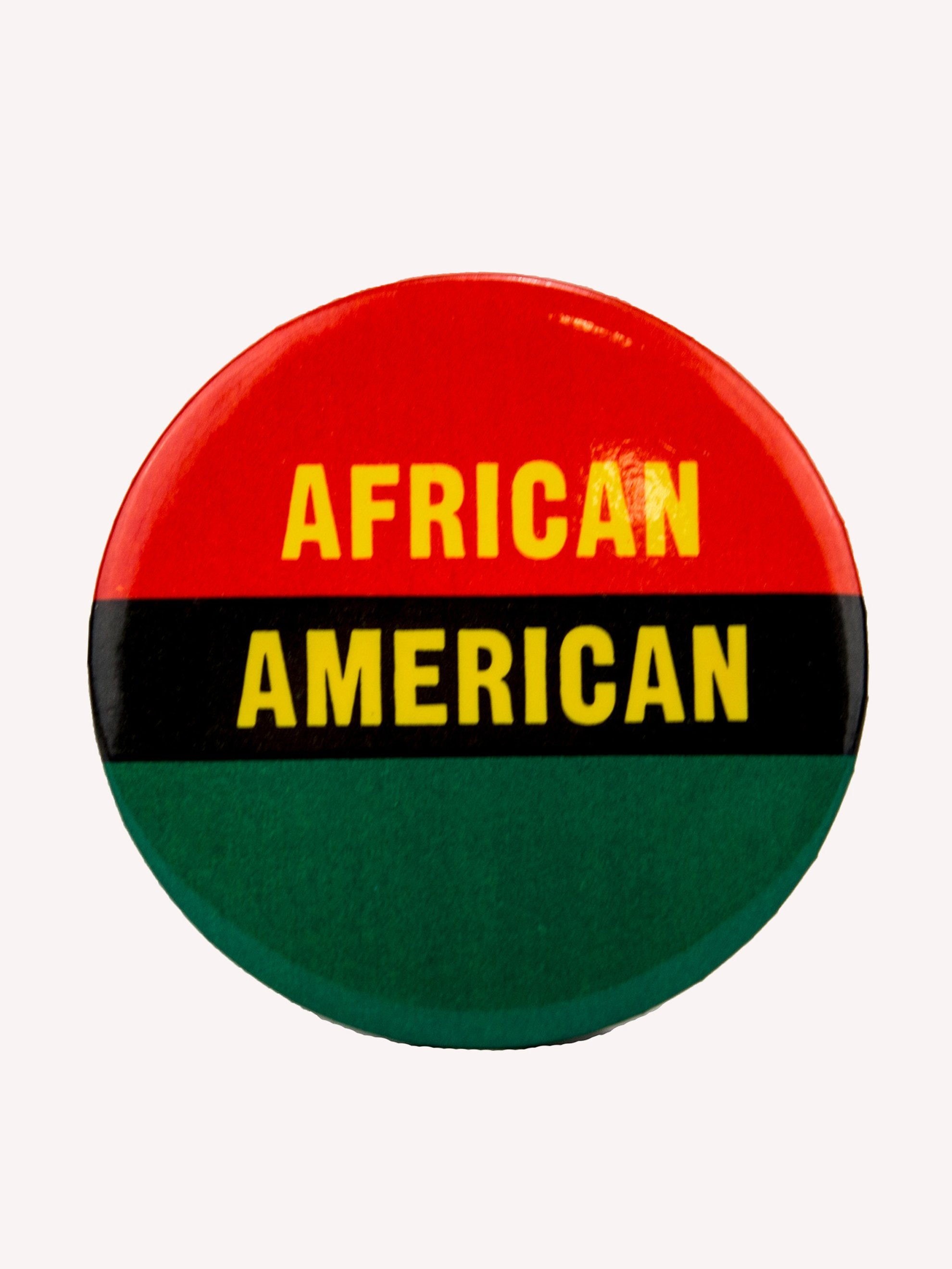 "Red/Black/Green Vintage 1970's Activist Protest Pin ""African American"" 1"
