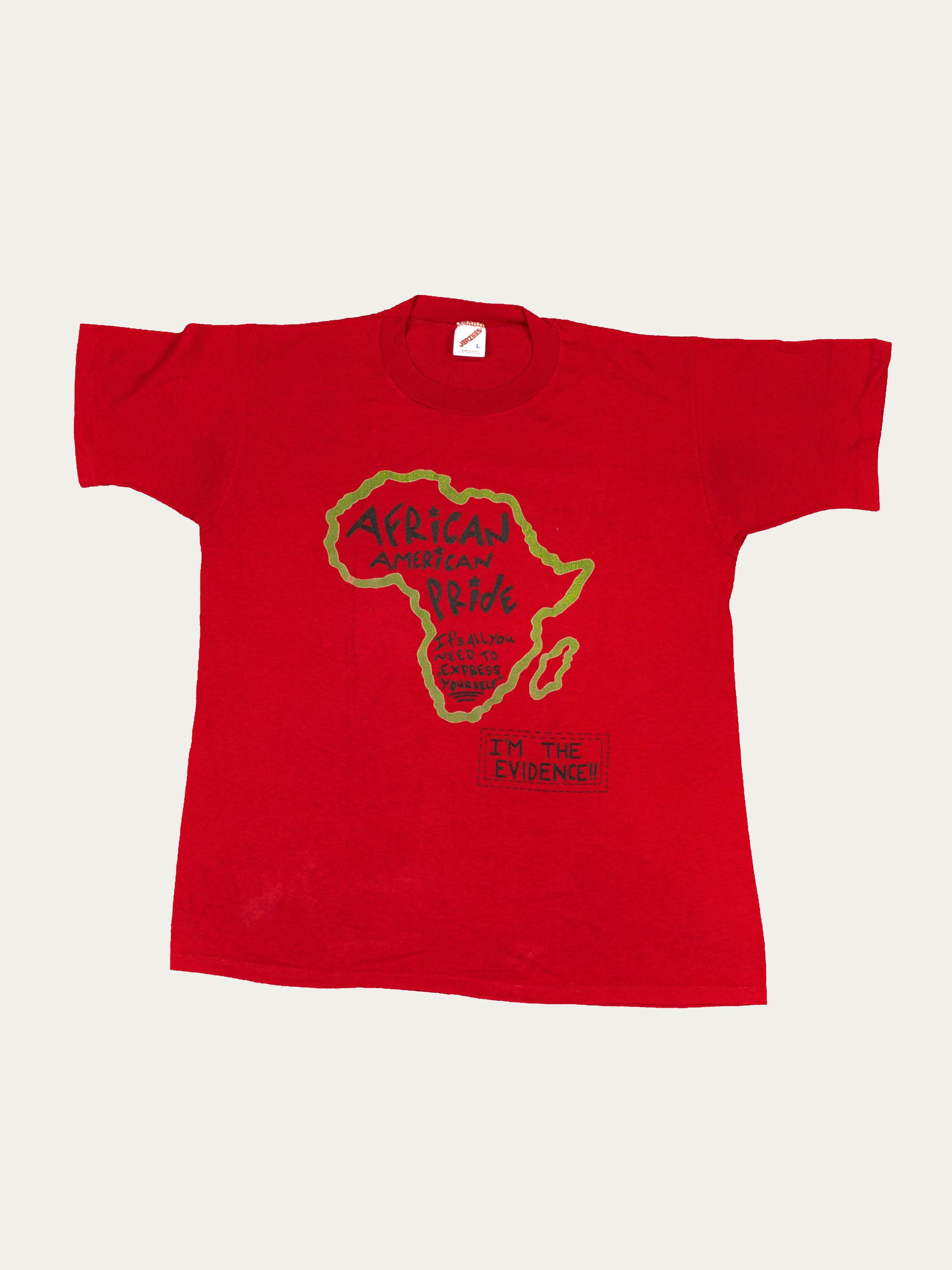Red 1990's African American Pride T-Shirt 1