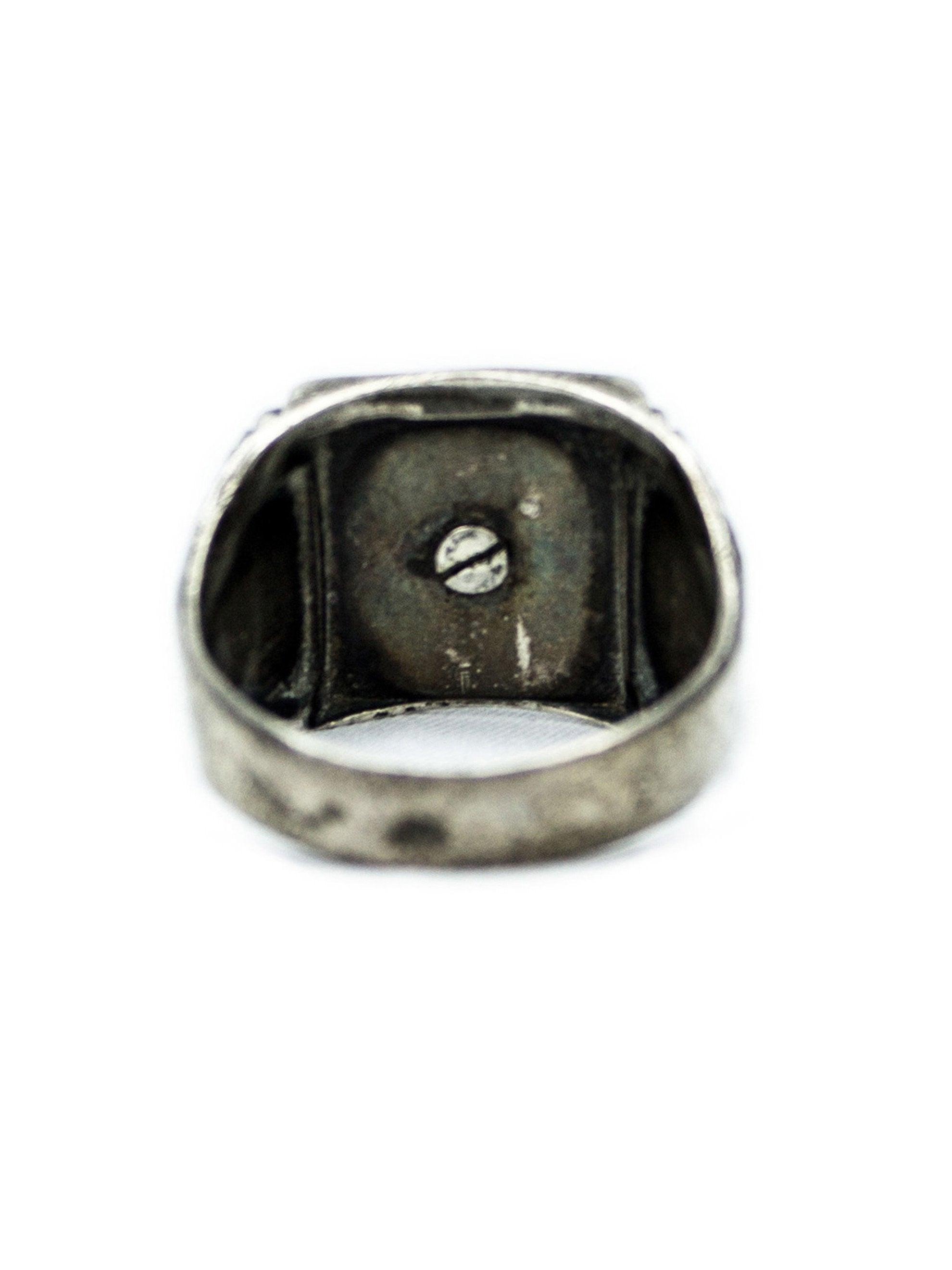 10.25 Vintage 1930's Sterling Silver Archer Ring 3