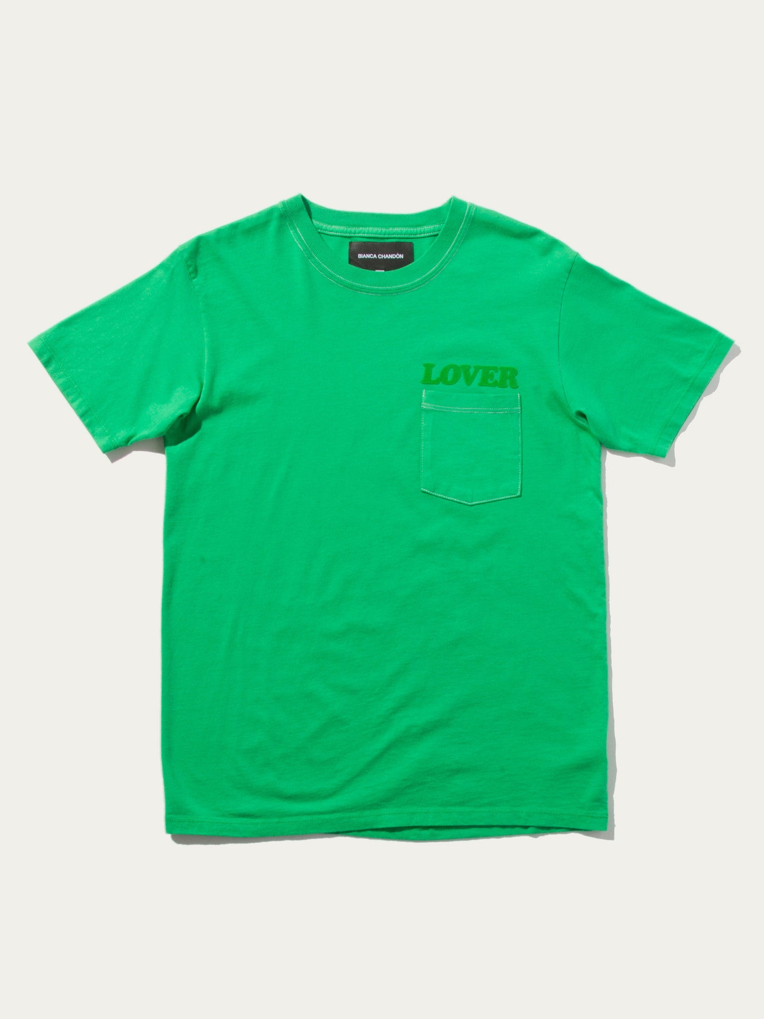 Kelly Green LOVER Pocket T-Shirt 1