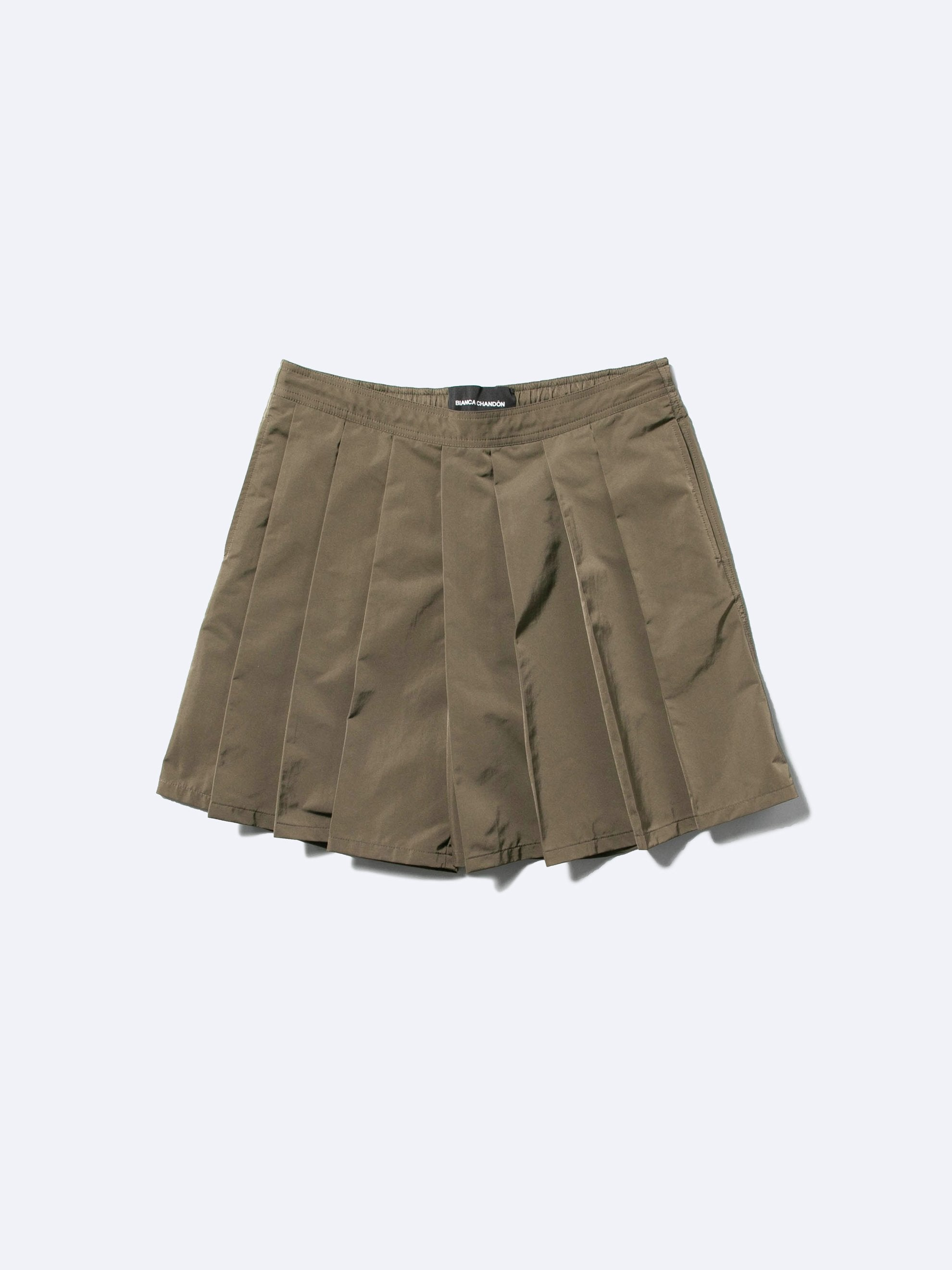 Olive Pleated Short 1