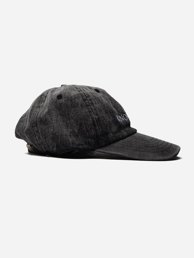 Black Denim Embroidery Hat