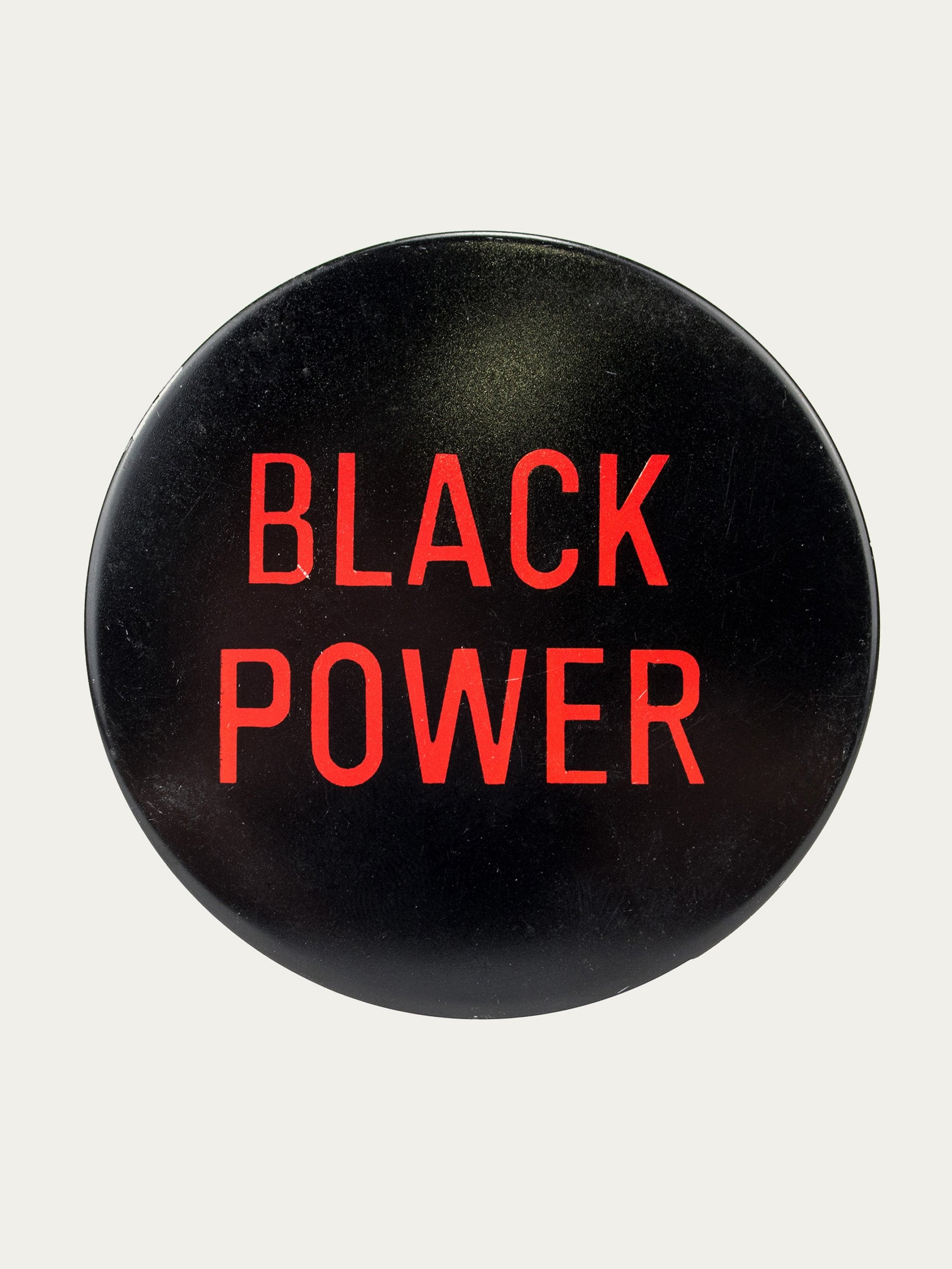 "Black/Red Vintage 1970's Activist Protest Pin ""Black Power"" 1"