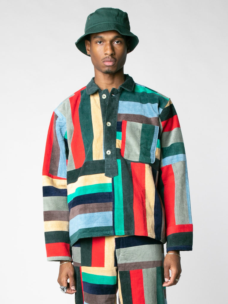 Corduroy Patchwork Pullover13607396868173