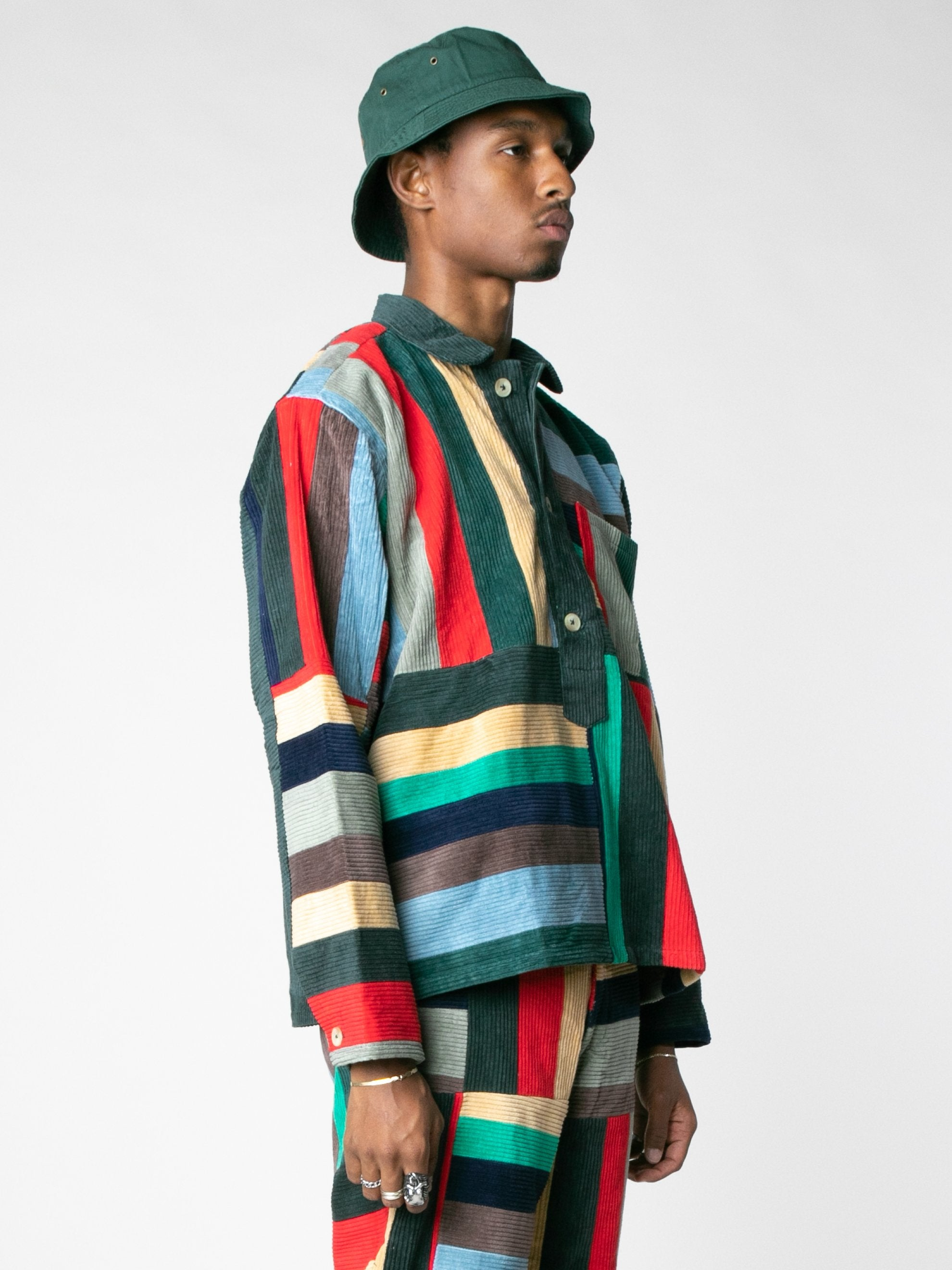 Corduroy Patchwork Pullover