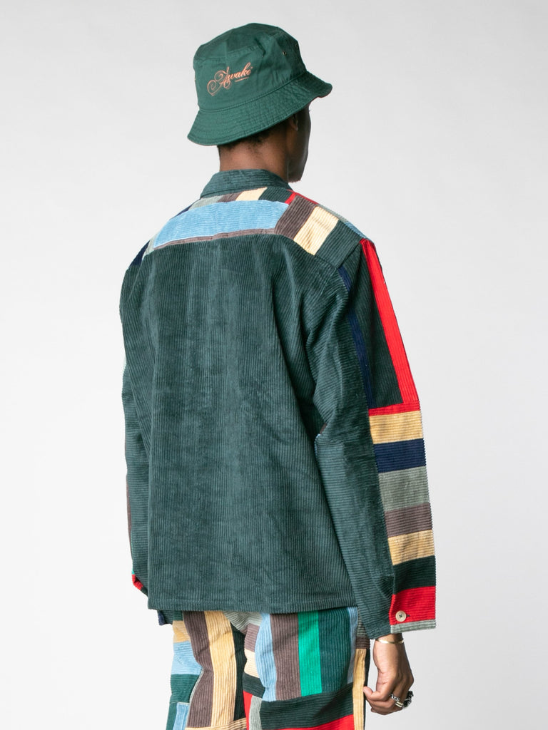 Corduroy Patchwork Pullover13607396966477