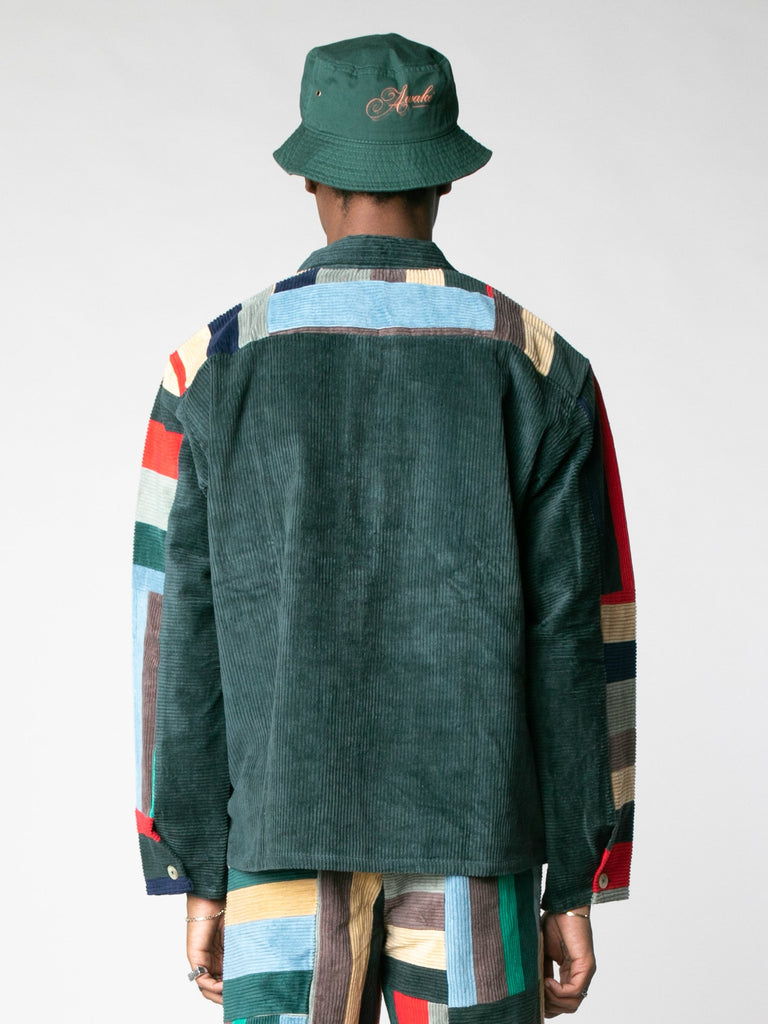 Corduroy Patchwork Pullover13607396999245