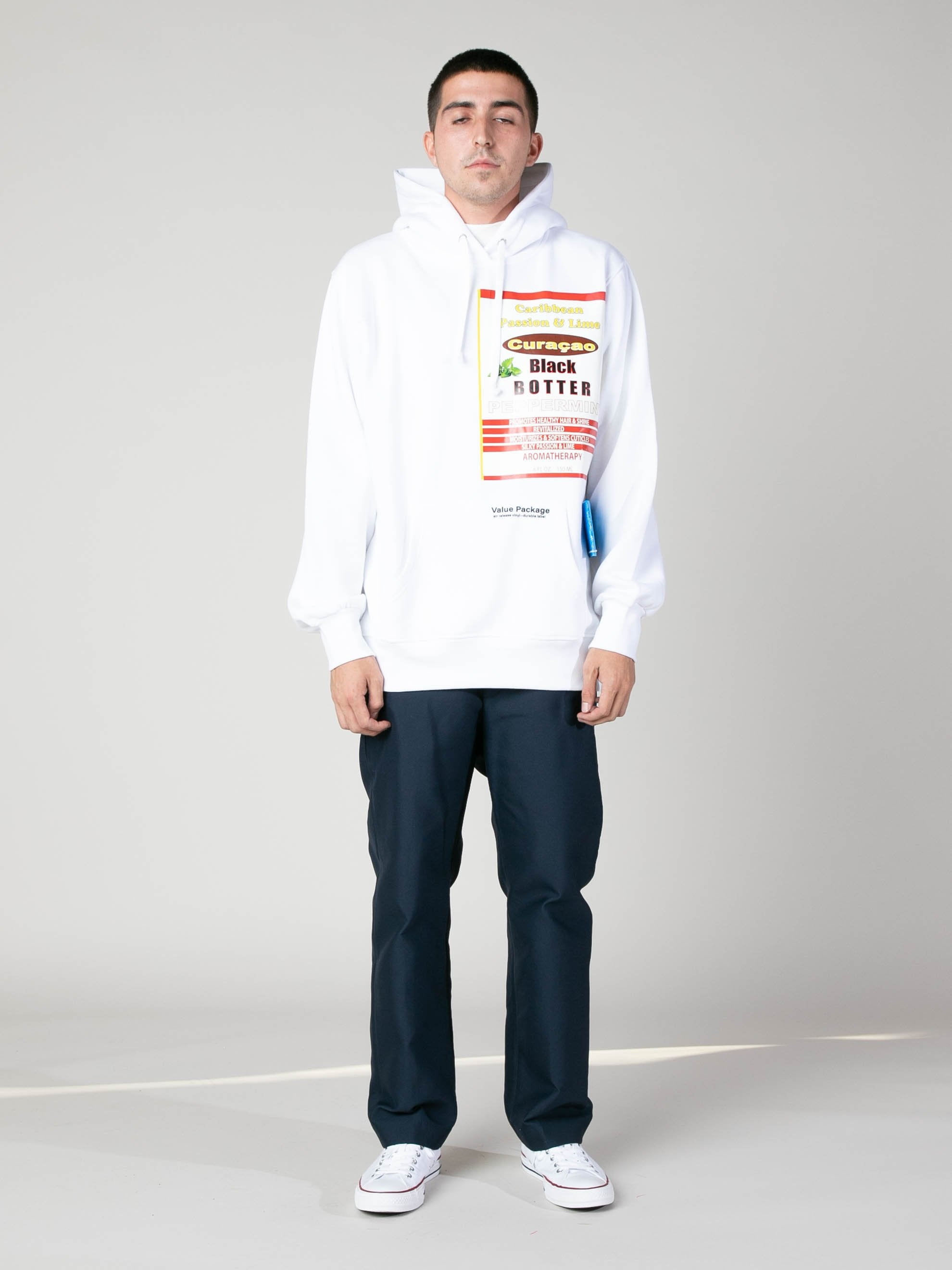 White Hoody With Botter Badge 3
