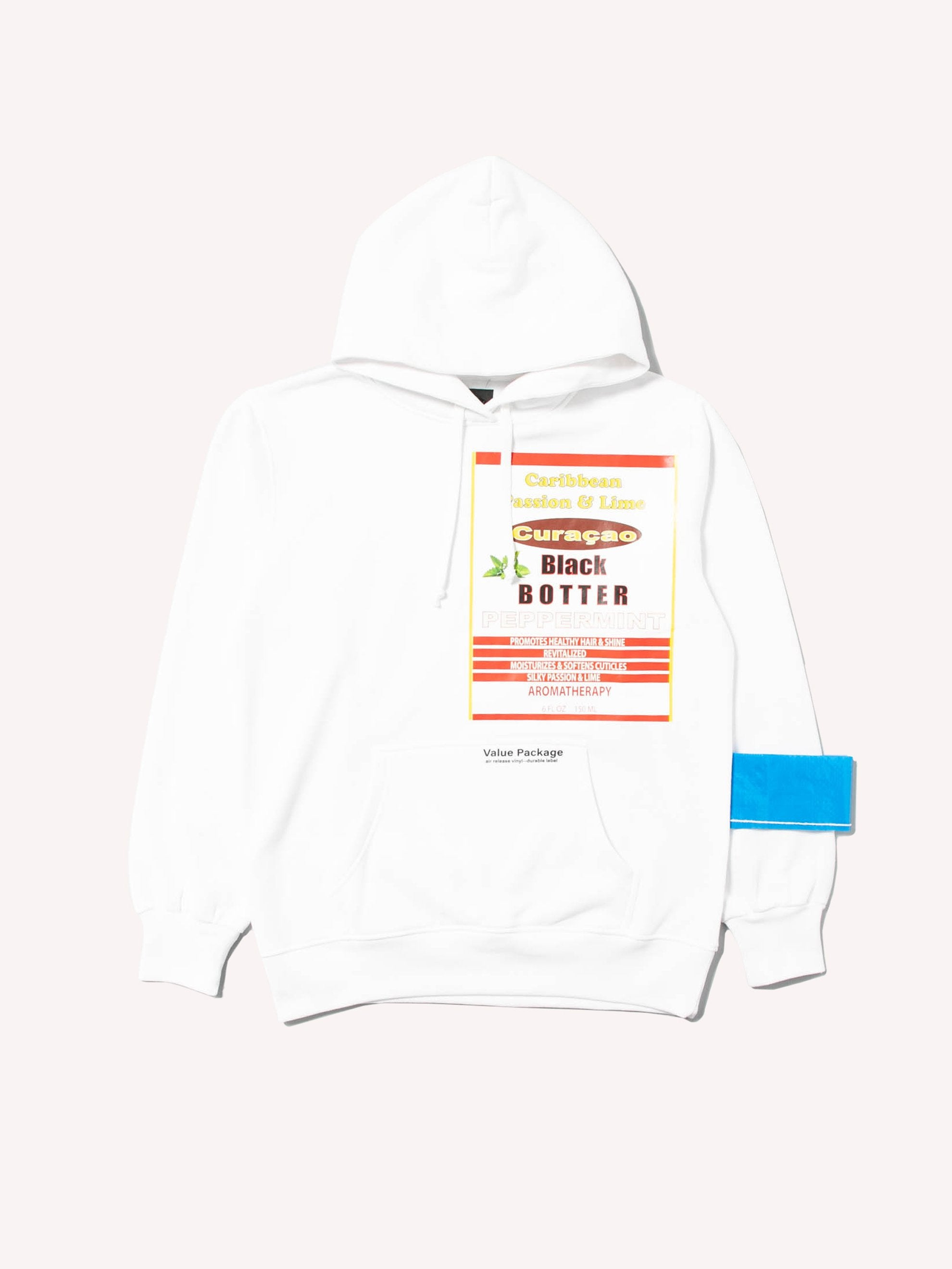 White Hoody With Botter Badge 1
