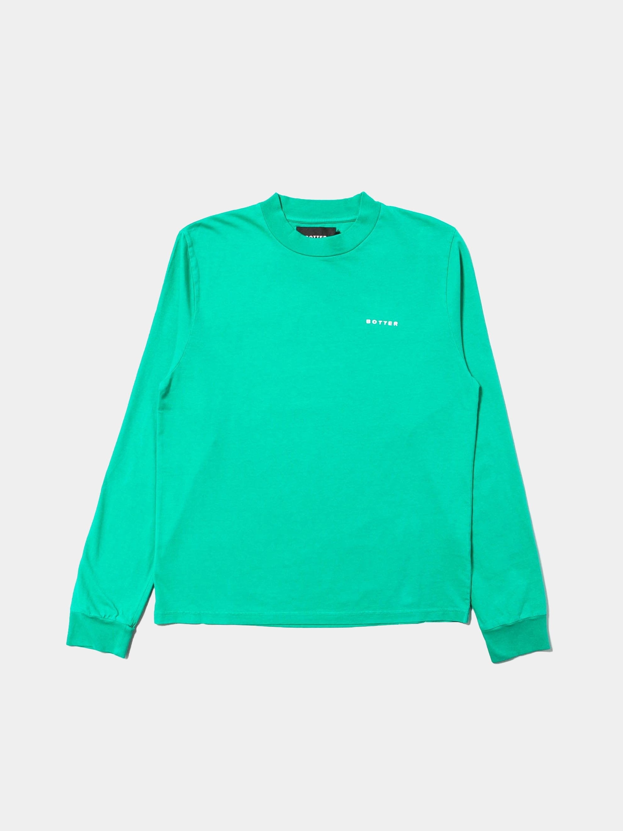 Grass Green Long Sleeve Embroidery Top 1