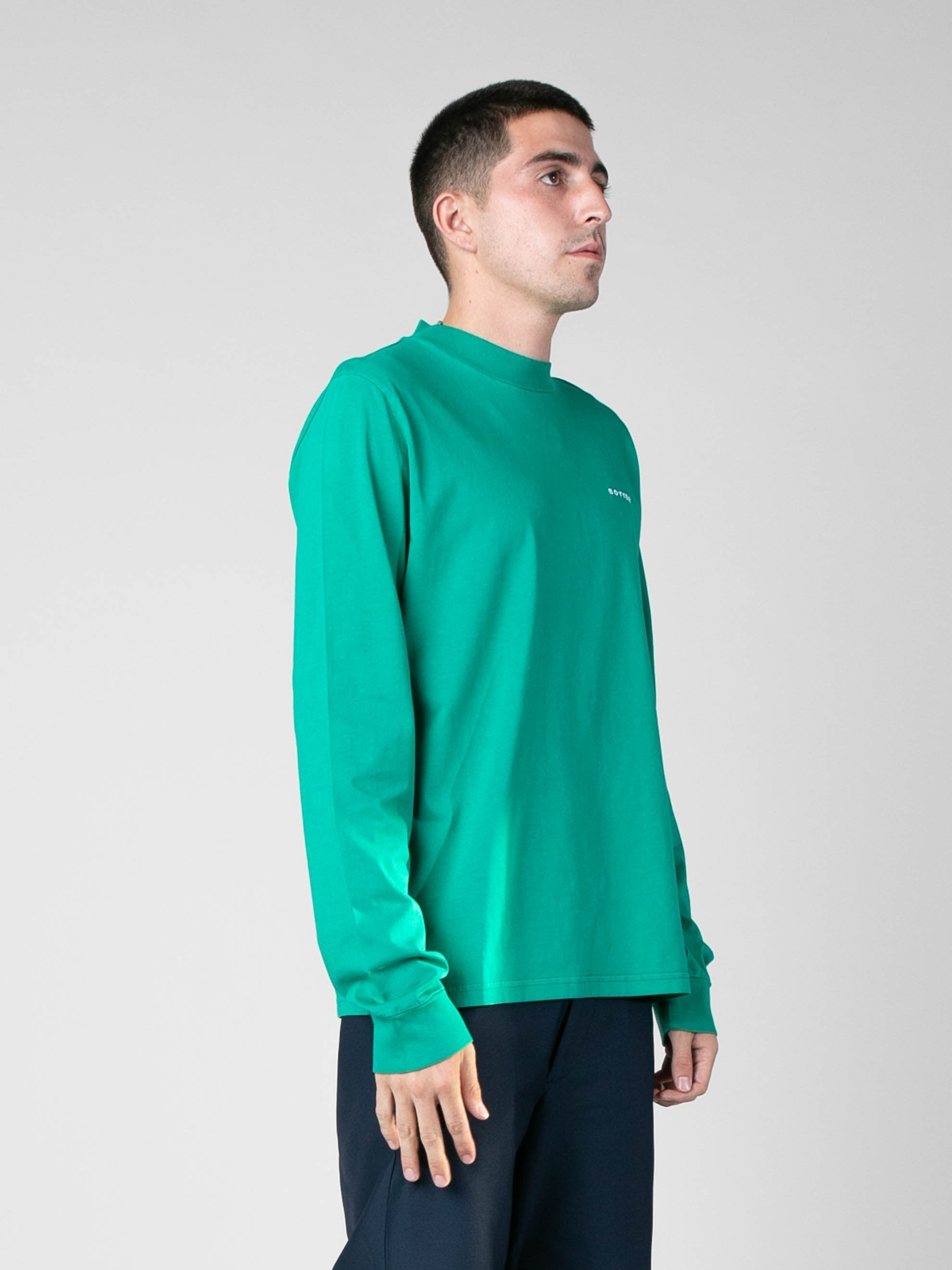 Grass Green Long Sleeve Embroidery Top 5